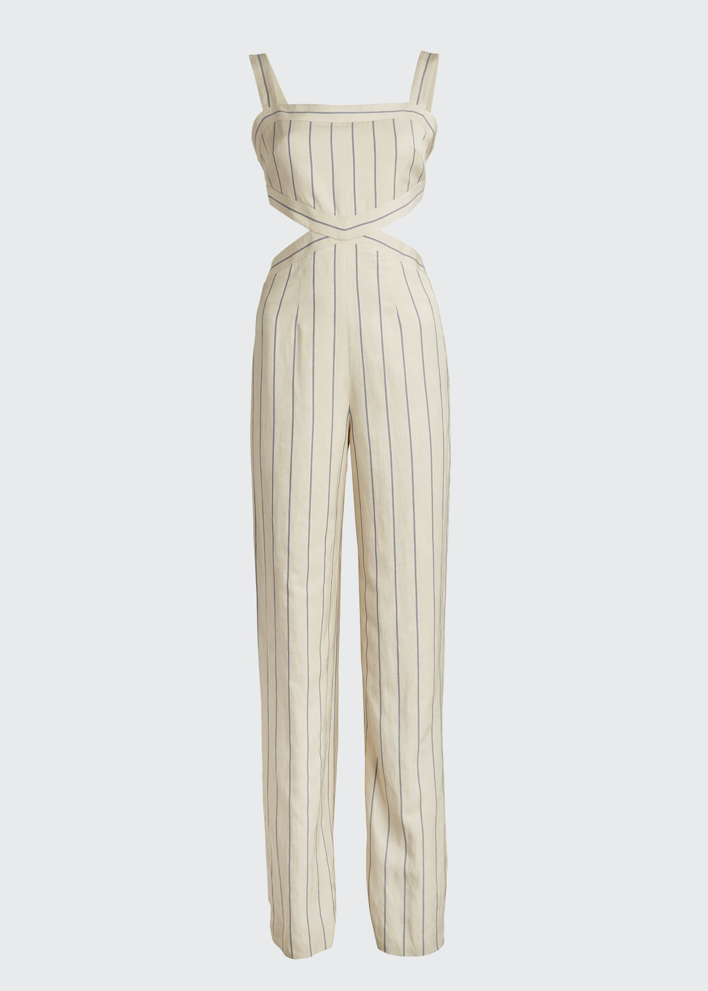 Image 5 of 5: Lipton Striped Cutout Jumpsuit