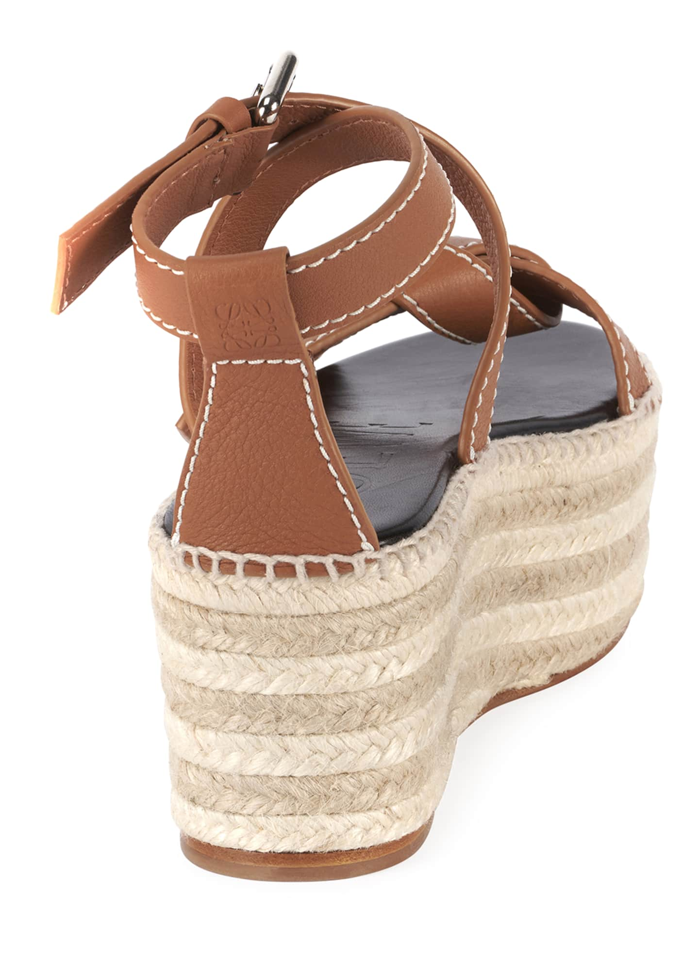 Image 4 of 4: Gate Wedge High Espadrilles