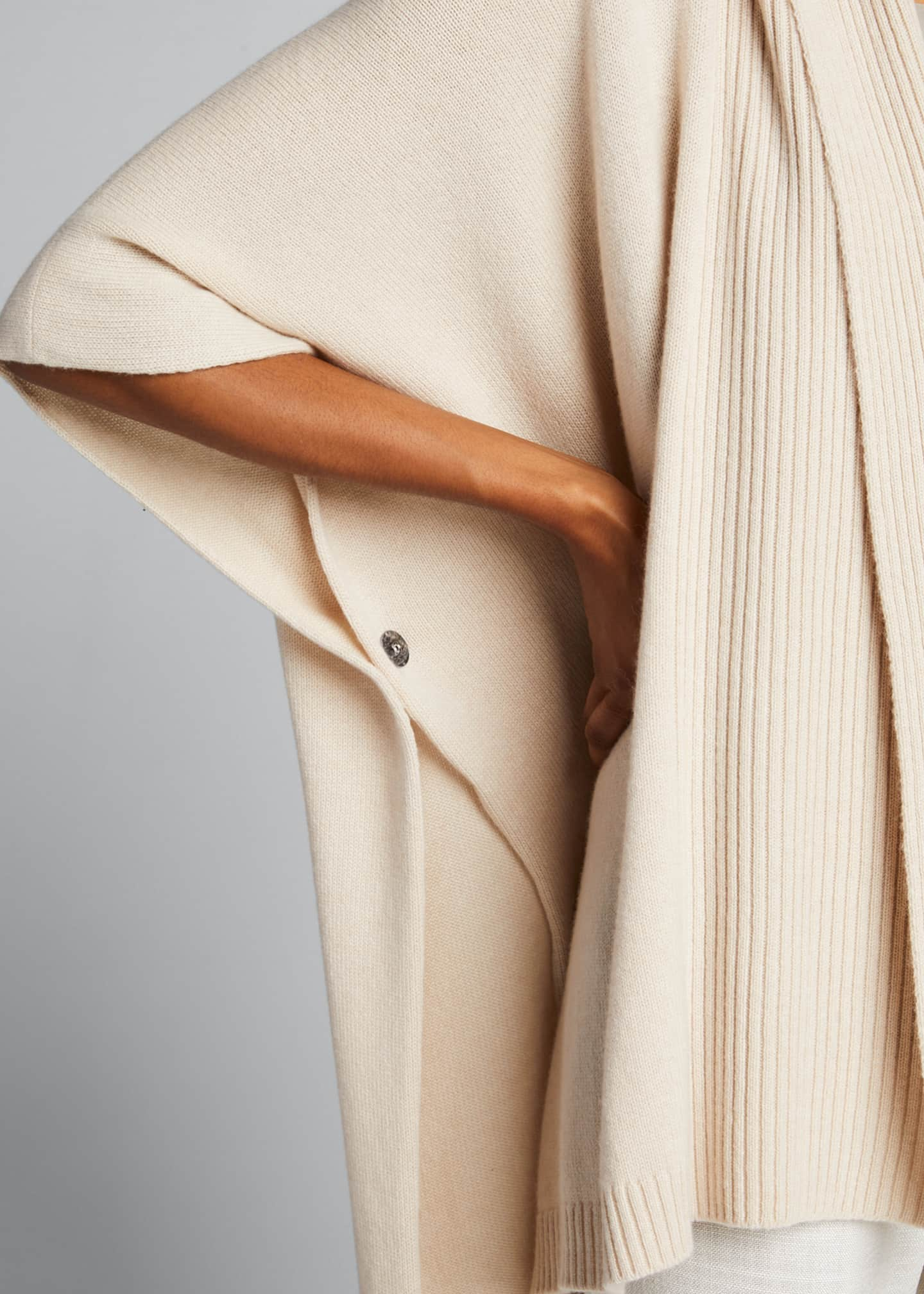 Image 4 of 5: Cashmere Wide High-Low Tabard Cardigan