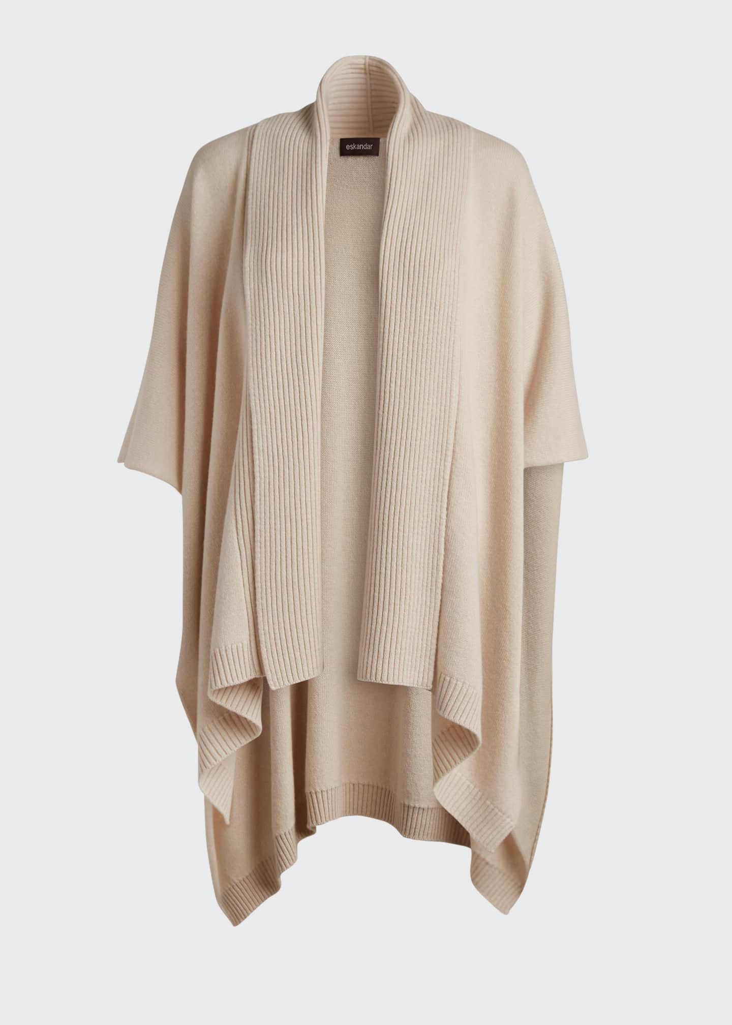 Image 5 of 5: Cashmere Wide High-Low Tabard Cardigan