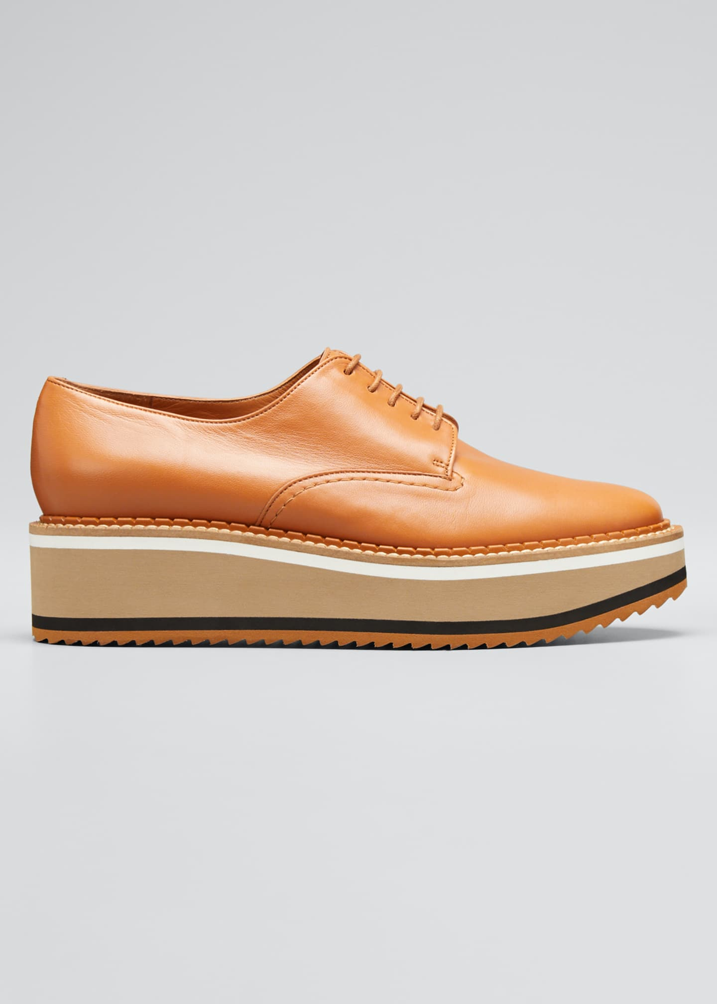 Clergerie Paris Berlin Leather Platform Derby Shoes