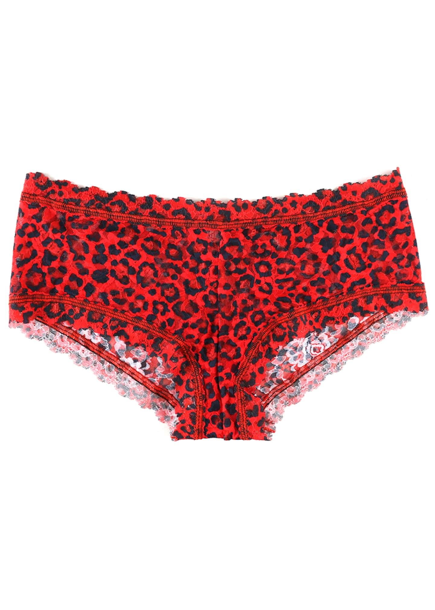 Hanky Panky Leopard-Print Lace Boyshorts
