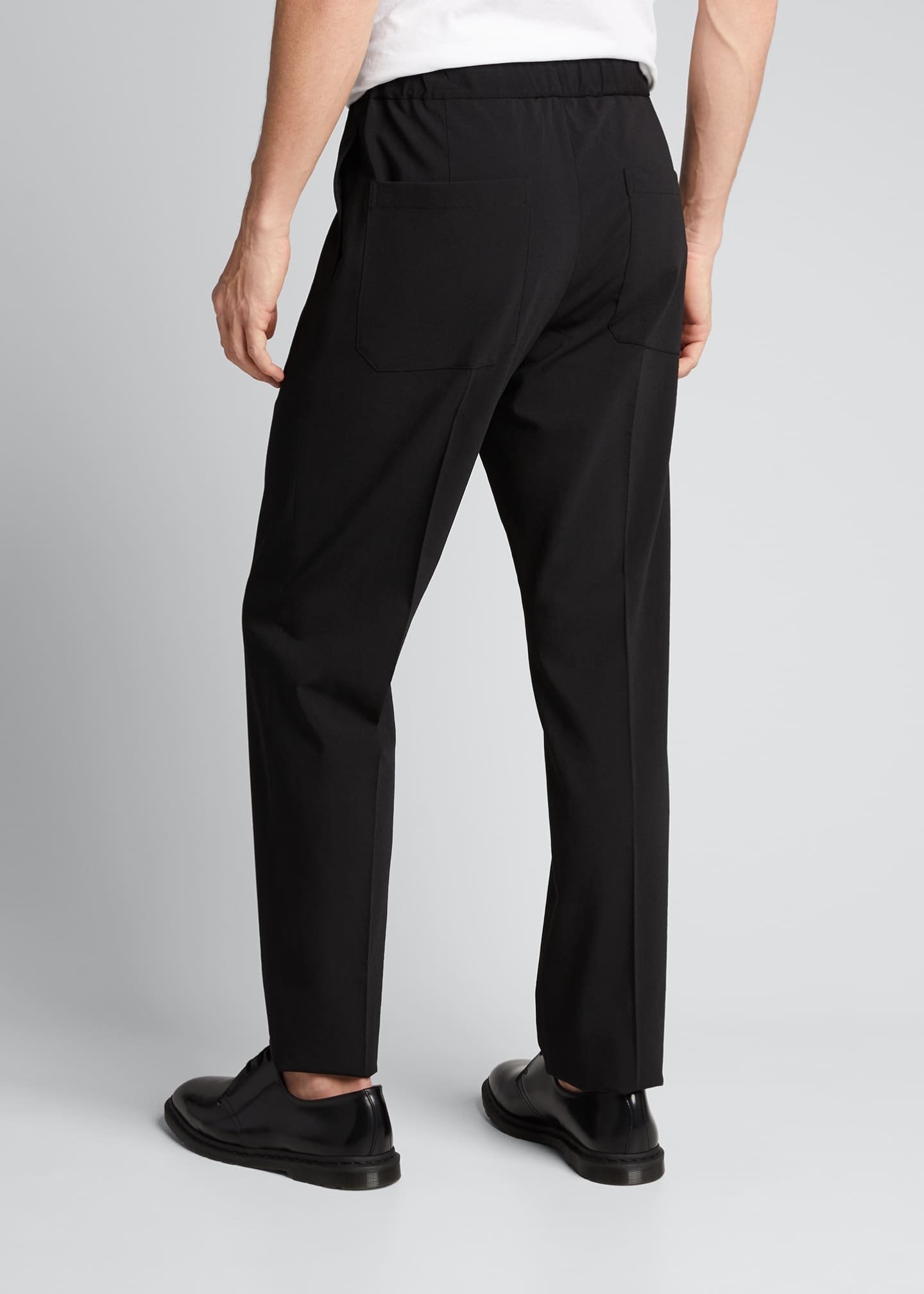 Image 2 of 5: Men's Crushed Suiting Pull-On Pants
