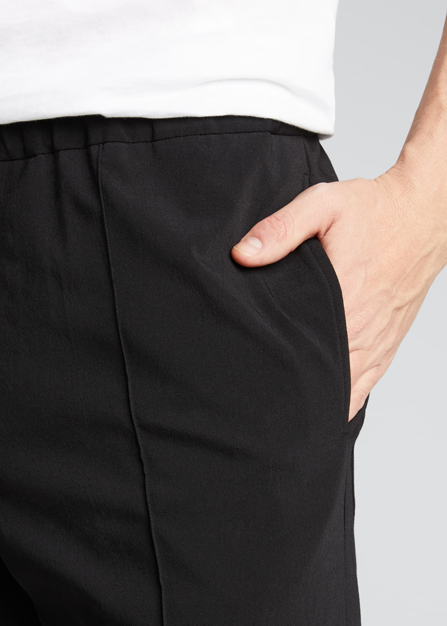 Image 4 of 5: Men's Crushed Suiting Pull-On Pants