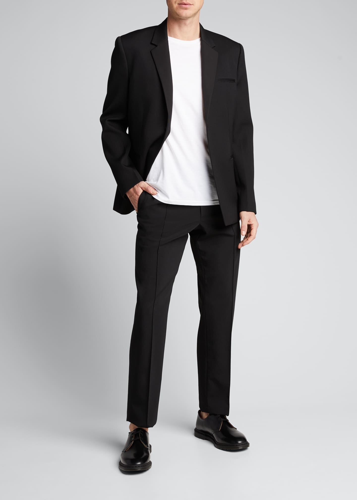 Image 1 of 5: Men's Crushed Suiting Pull-On Pants