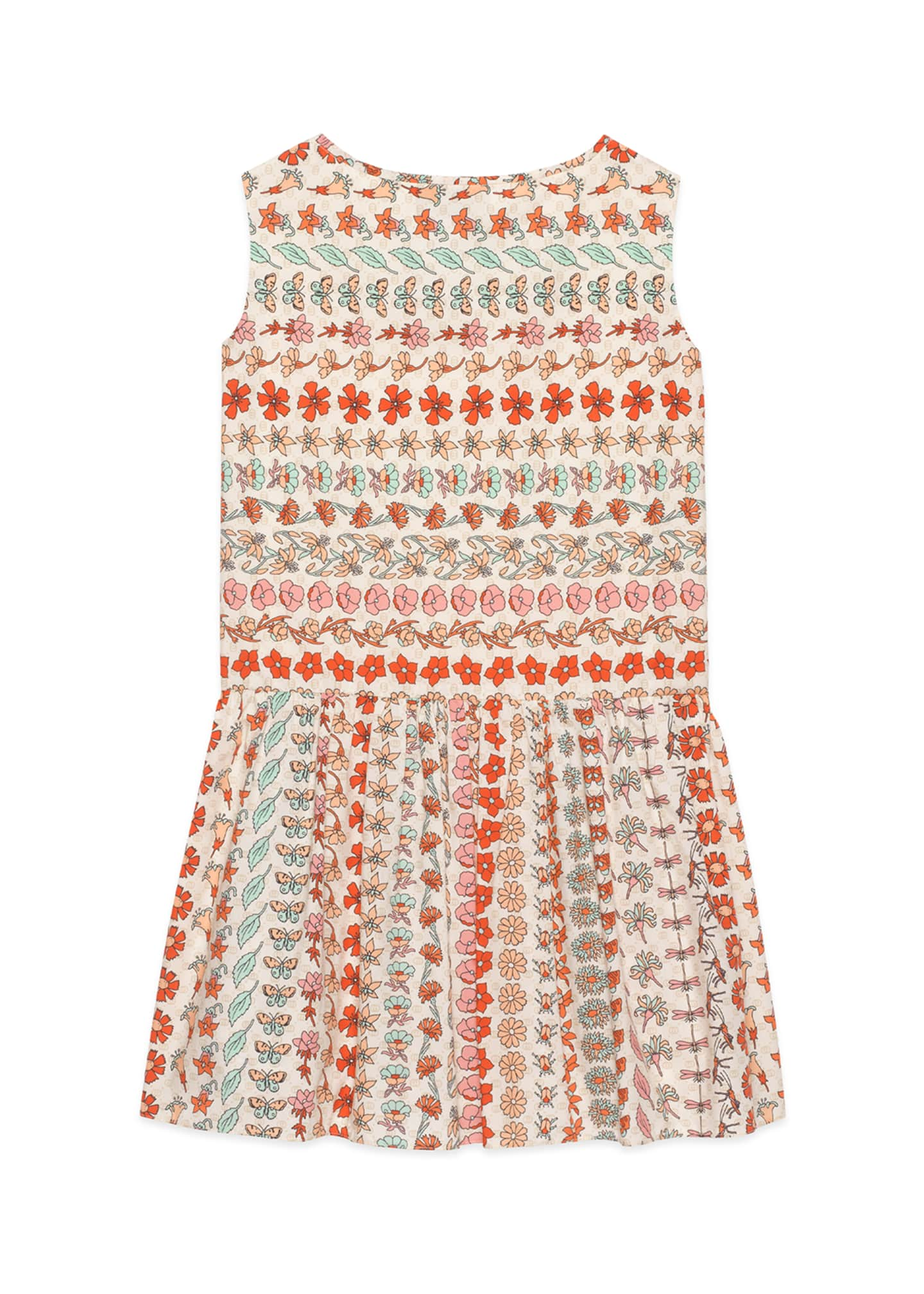 Image 2 of 2: Spring Bouquet Striped Poplin Sleeveless Dress, Size 4-12
