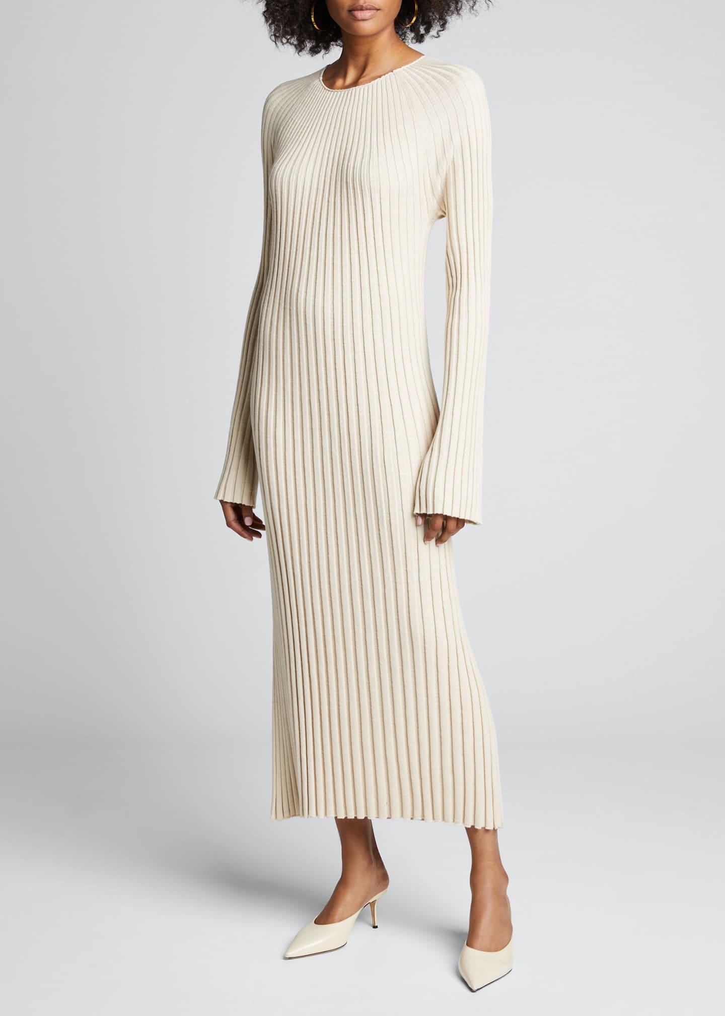 Loulou Studio Ribbed Maxi Sweater Dress