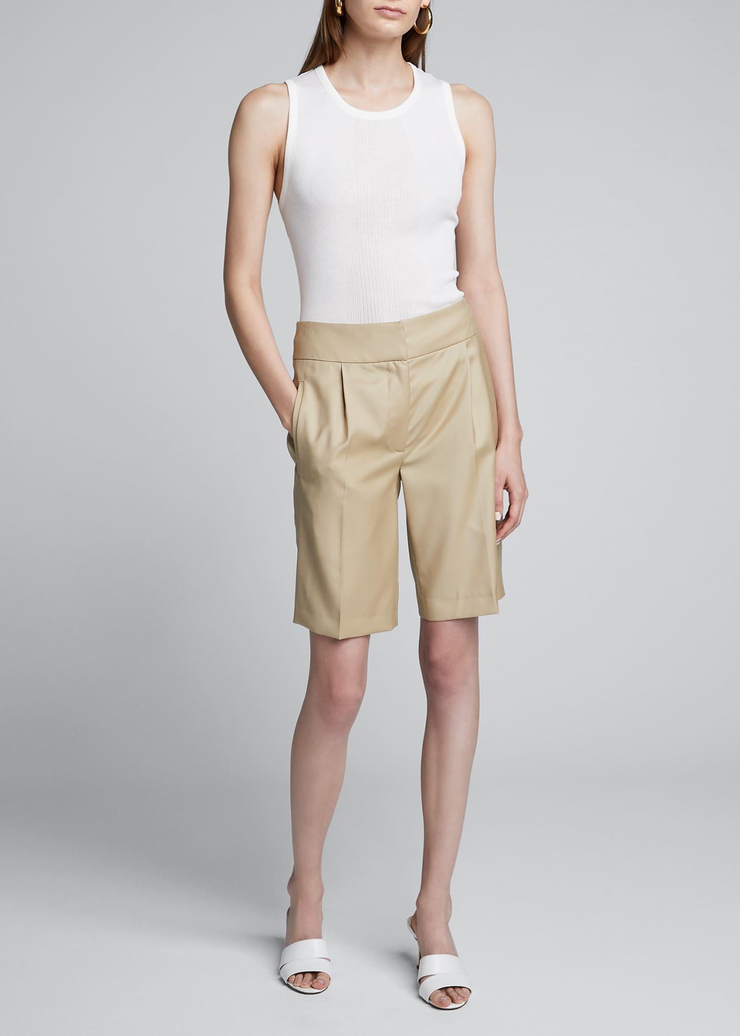 Loulou Studio Wool Suiting Knee Shorts