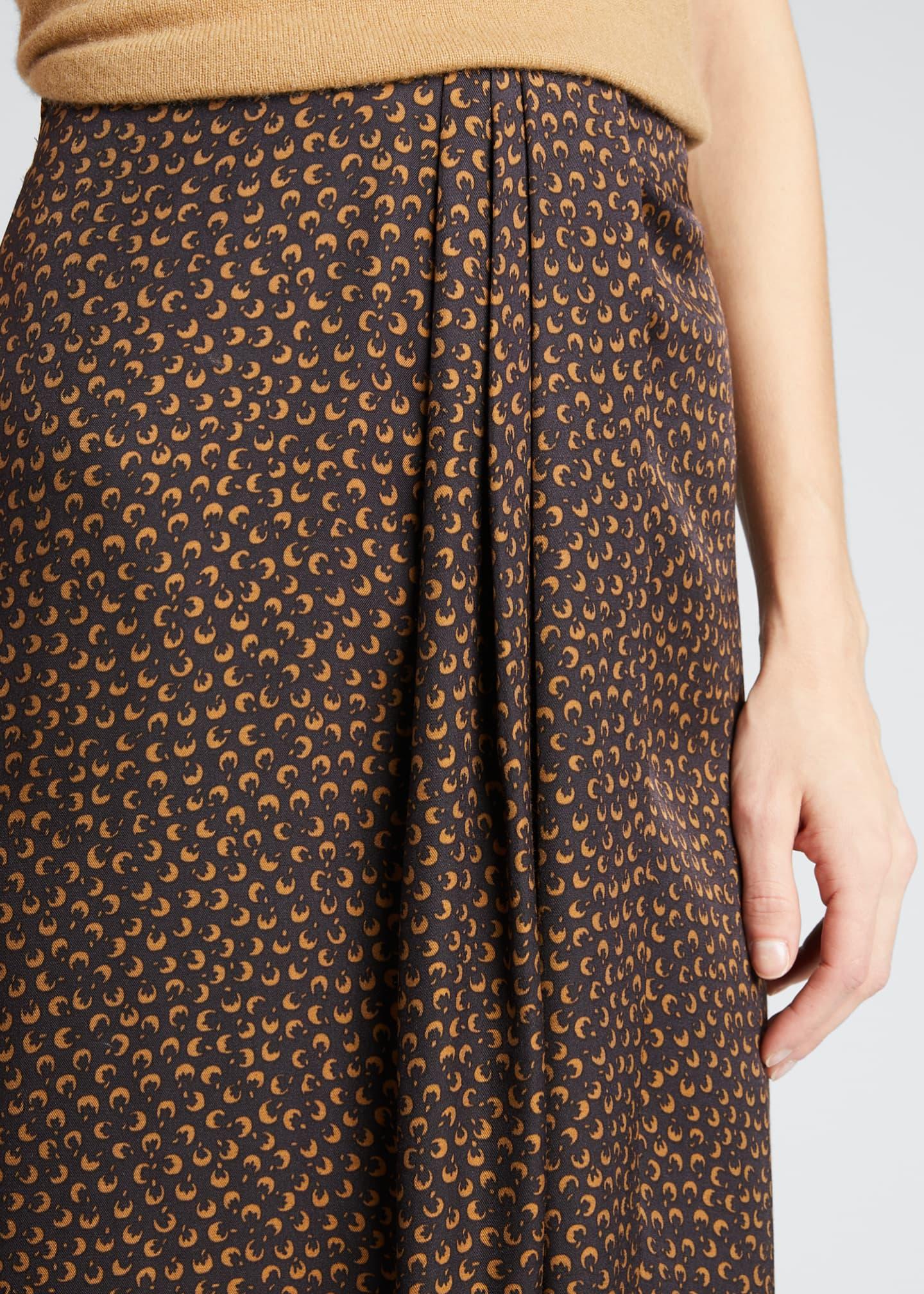 Vince Star Dot Asymmetric Drape Skirt Bergdorf Goodman