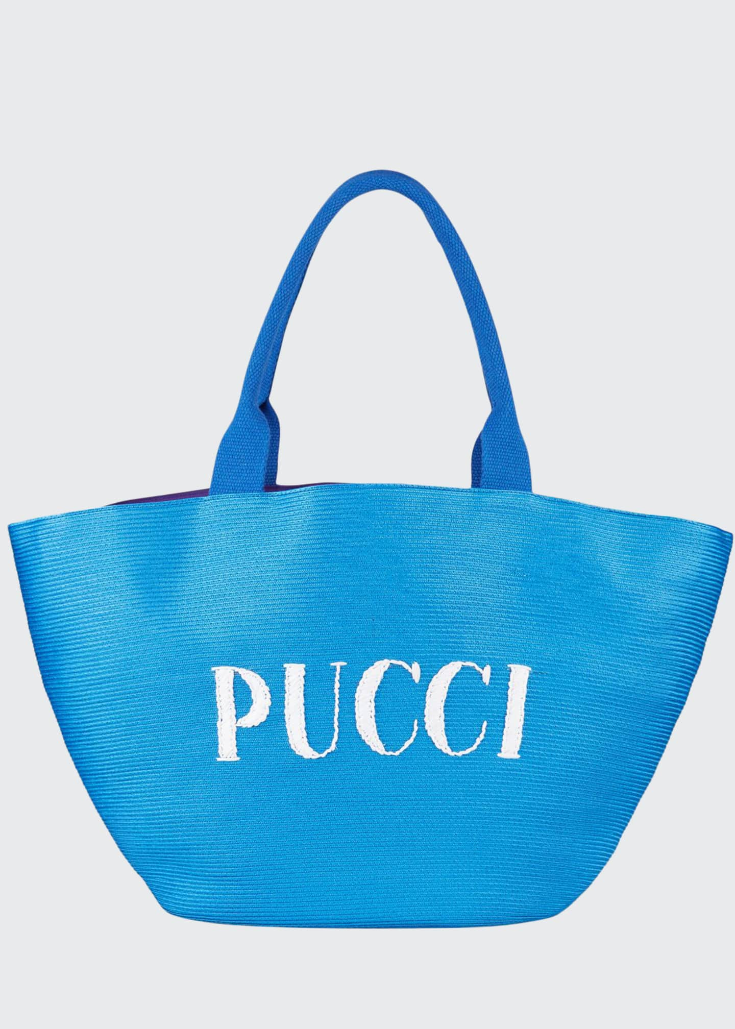 Emilio Pucci Straw Beach Tote Bag