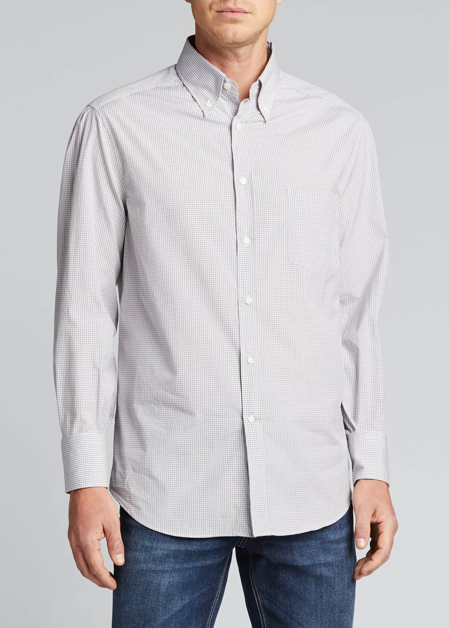 Image 3 of 5: Men's Micro-Check Sport Shirt