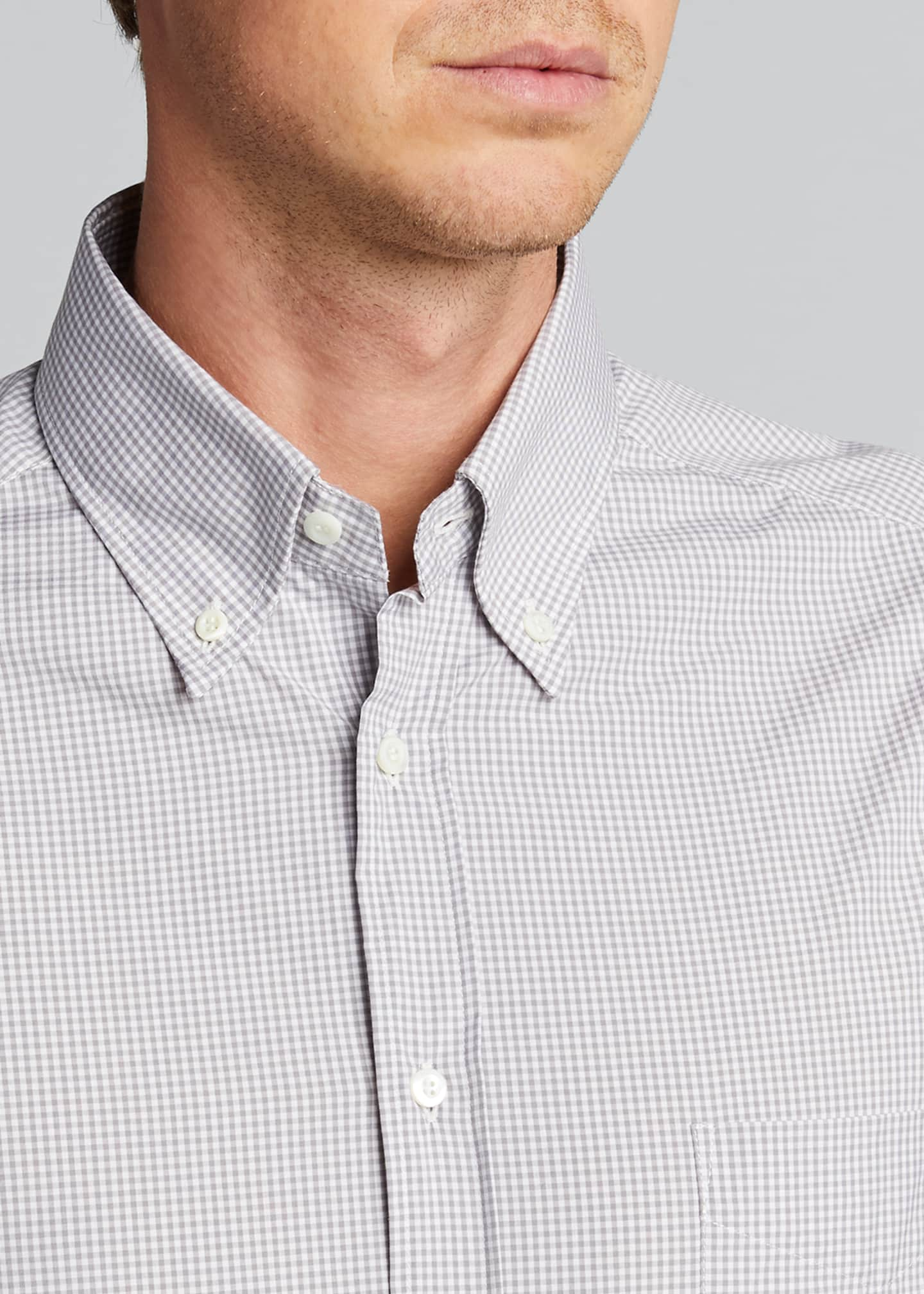 Image 4 of 5: Men's Micro-Check Sport Shirt
