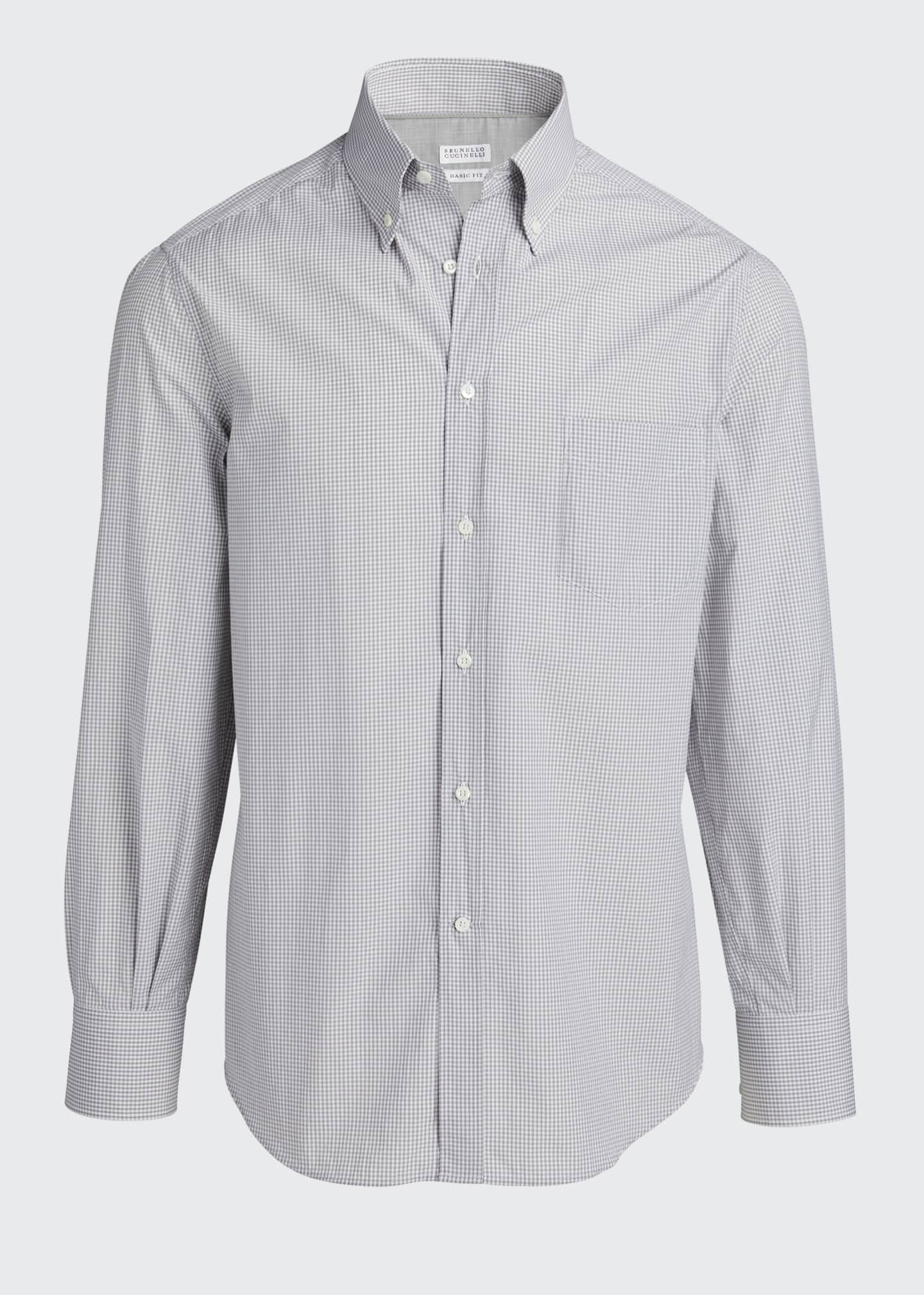 Image 5 of 5: Men's Micro-Check Sport Shirt