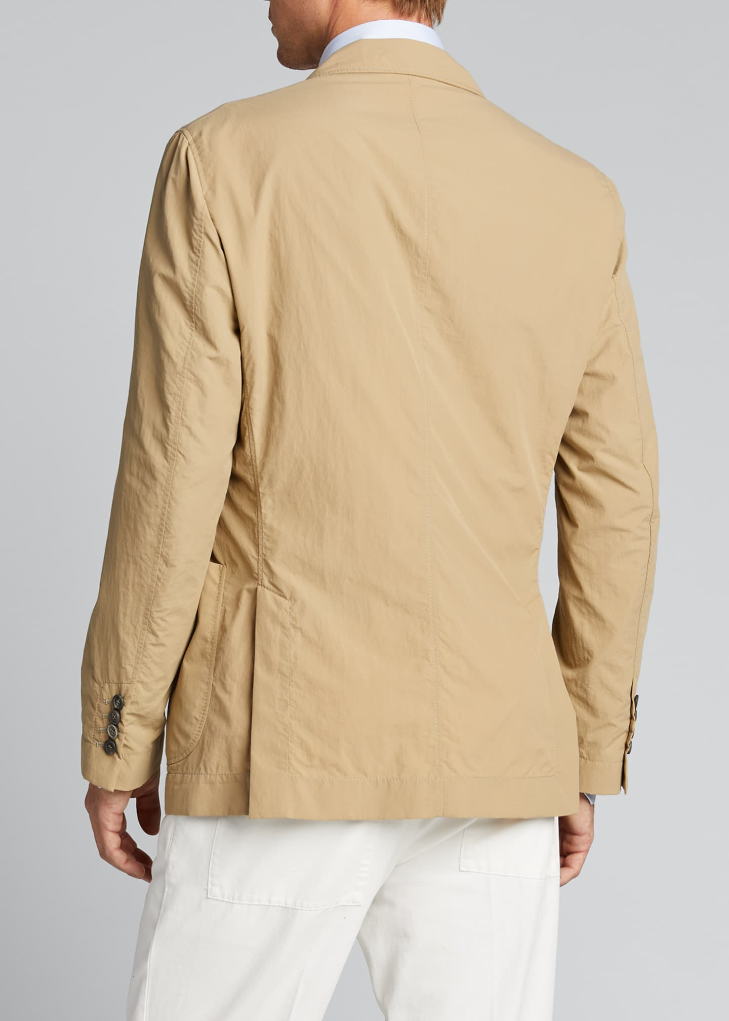 Image 2 of 4: Men's Technical Weave Three-Button Jacket