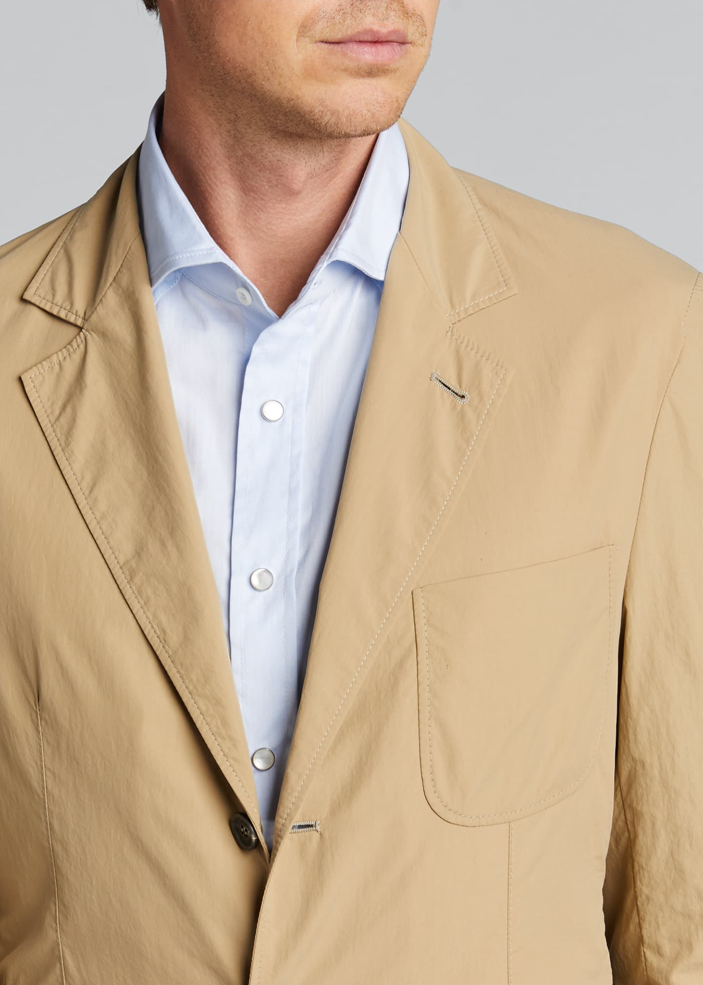 Image 4 of 4: Men's Technical Weave Three-Button Jacket
