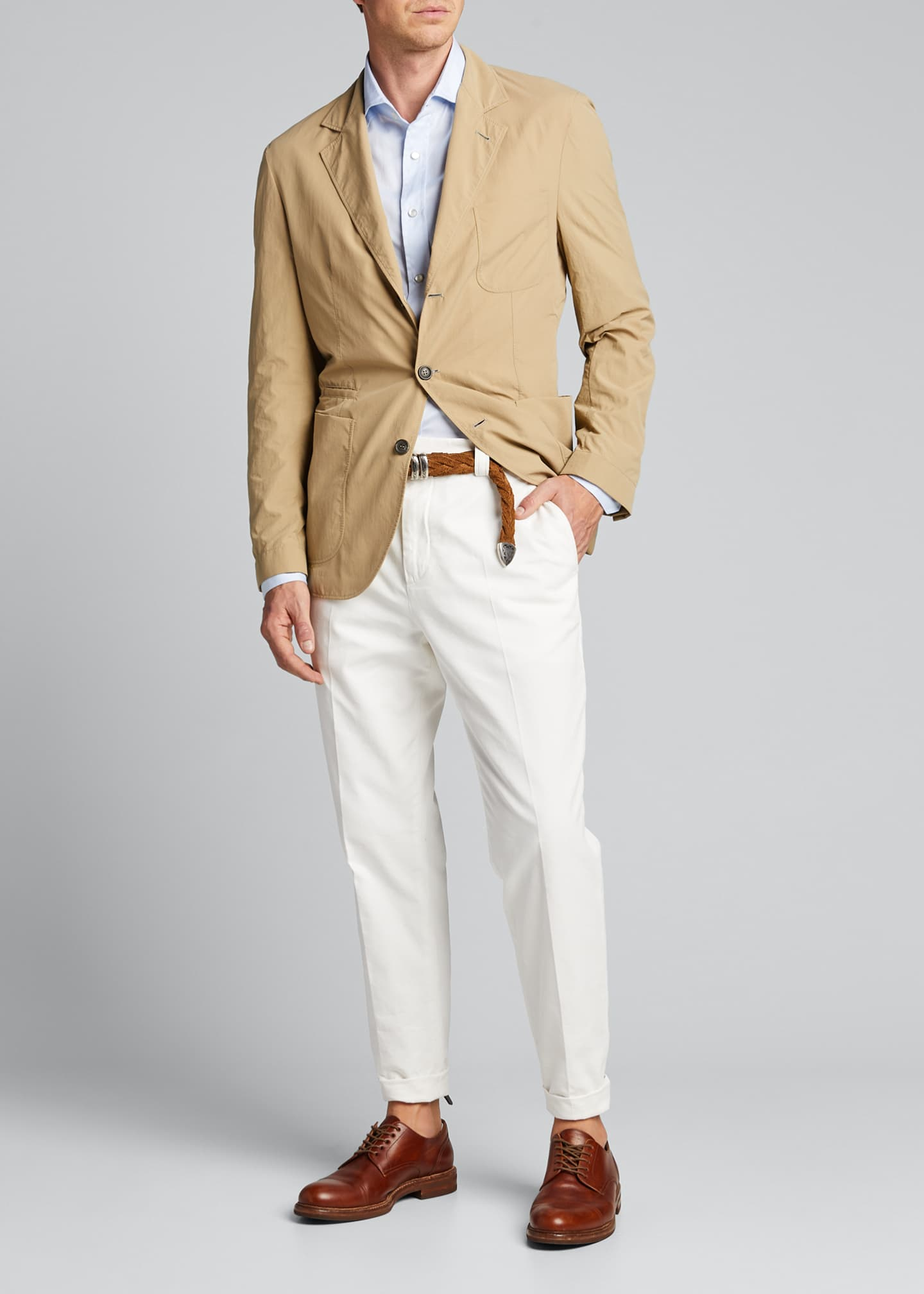 Image 1 of 4: Men's Technical Weave Three-Button Jacket