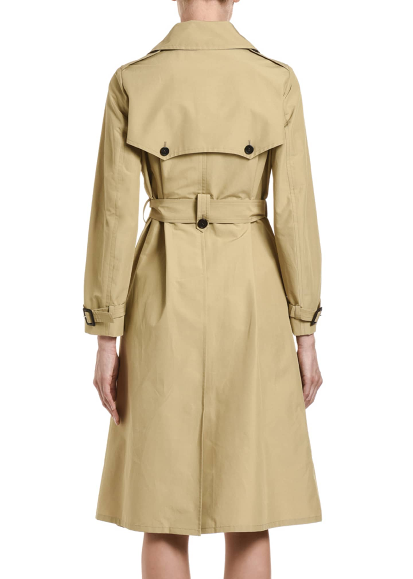Image 2 of 3: Tech Poplin Double-Breasted Trench Coat
