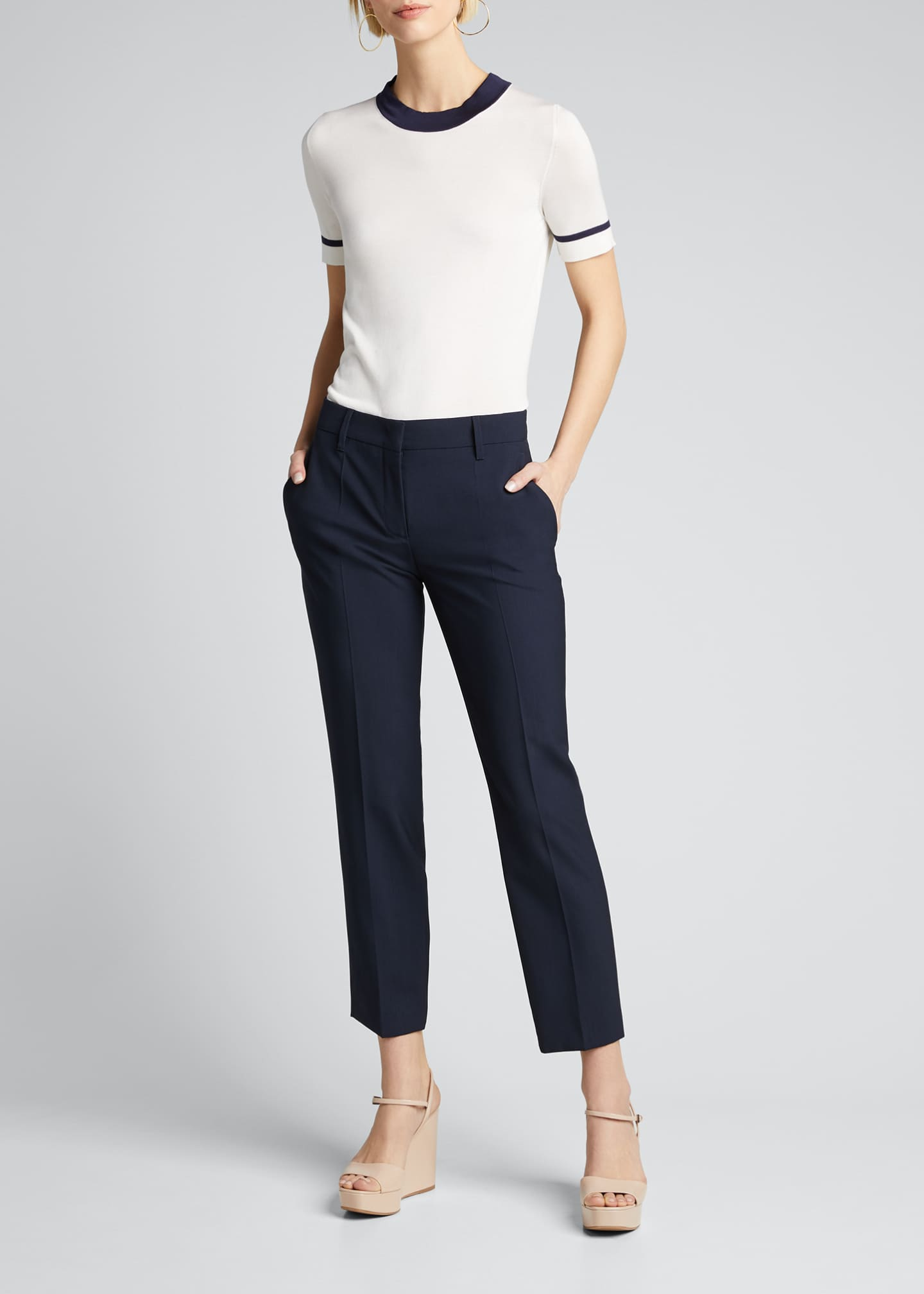 Prada Lightweight Silk Short-Sleeve Sweater