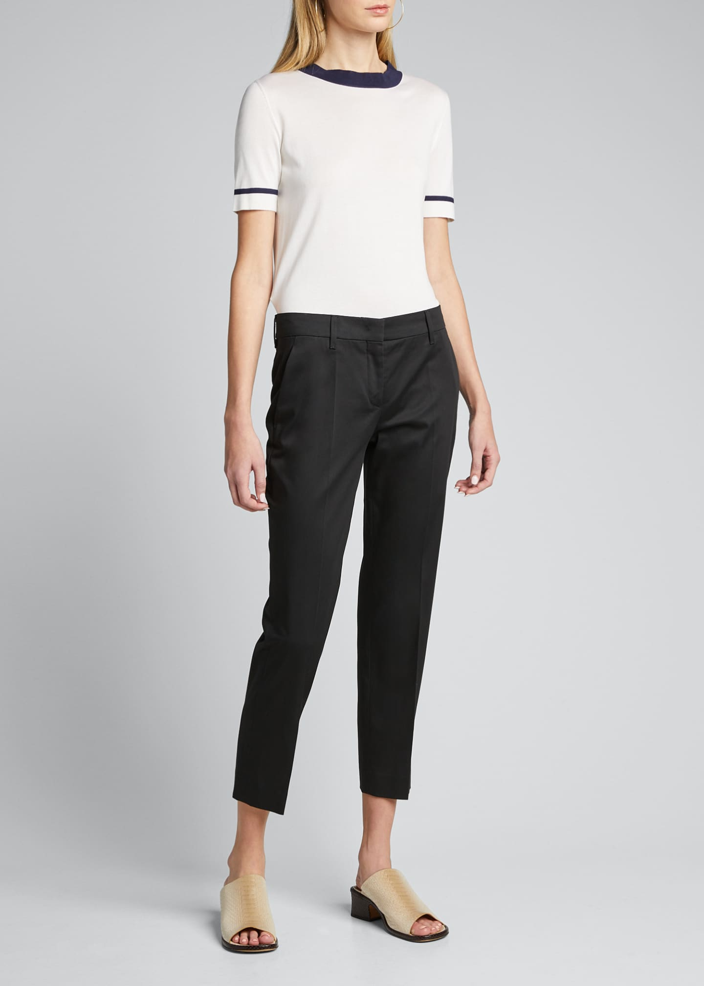 Image 3 of 4: Stretch Cotton Classic Pants