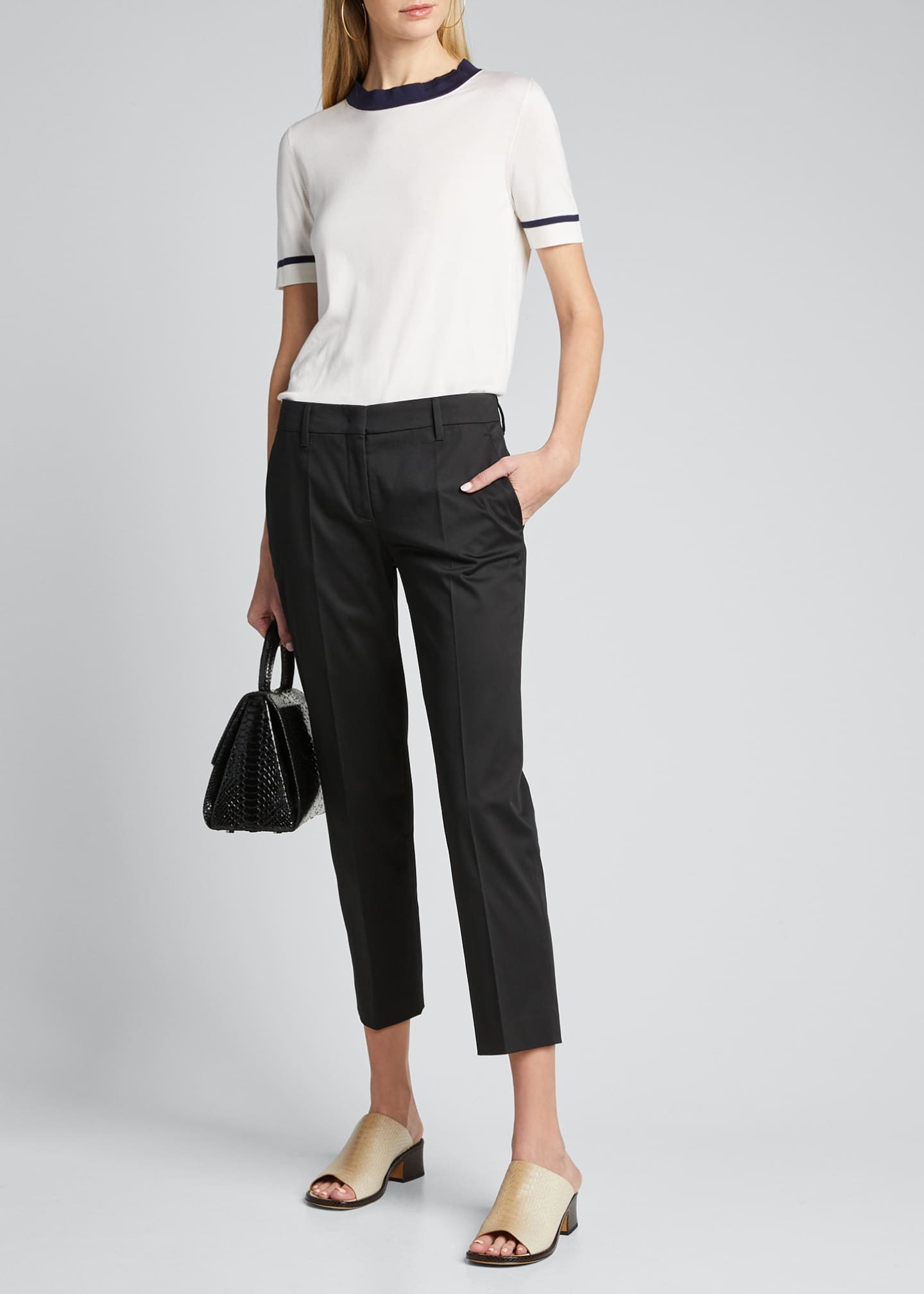 Image 1 of 4: Stretch Cotton Classic Pants
