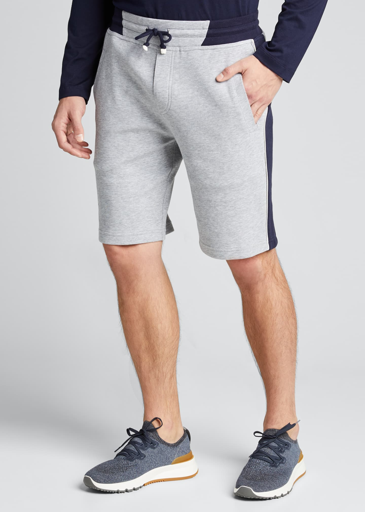 Image 3 of 5: Men's Colorblock Knit Bermuda Shorts