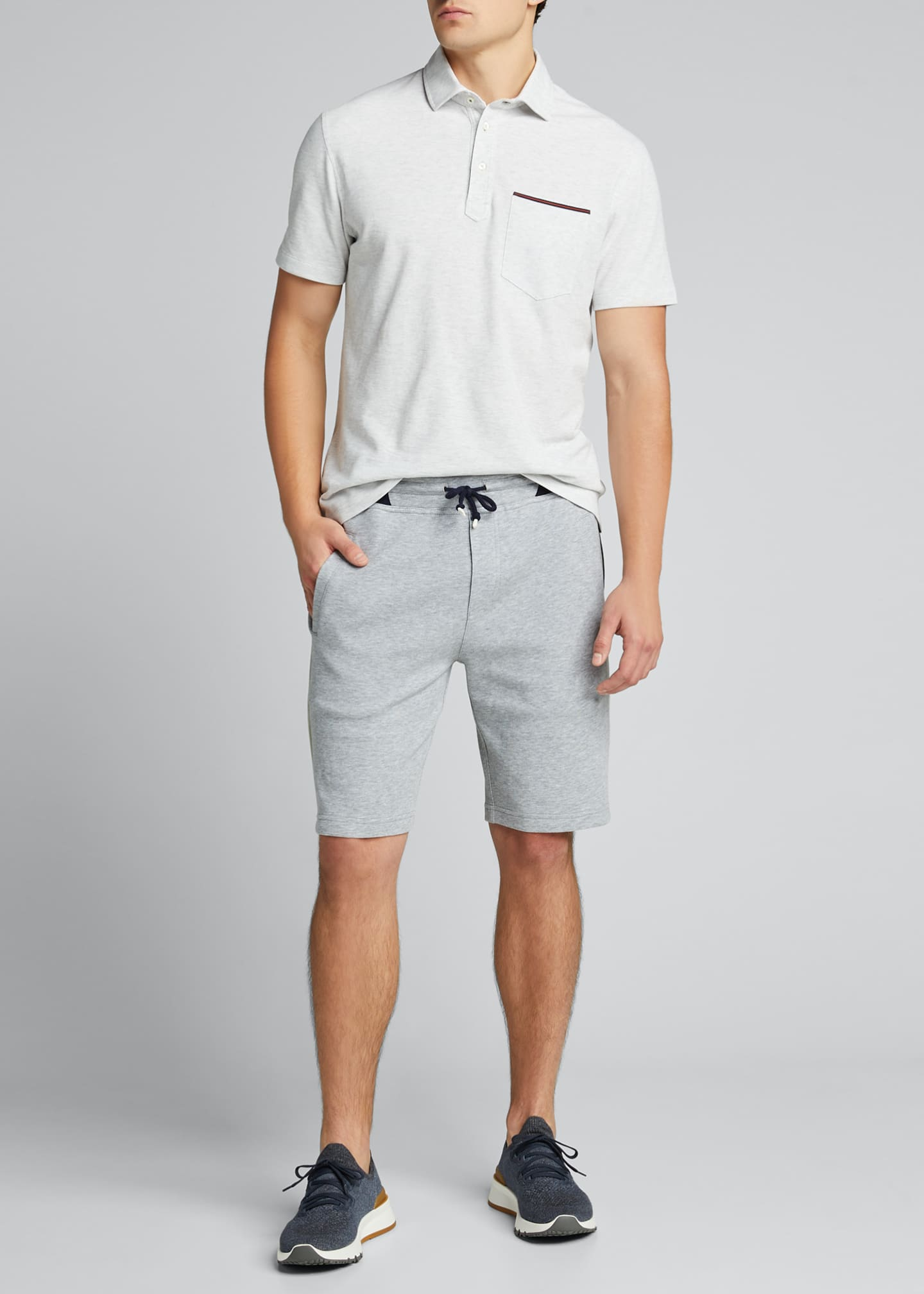 Image 1 of 5: Men's Colorblock Knit Bermuda Shorts
