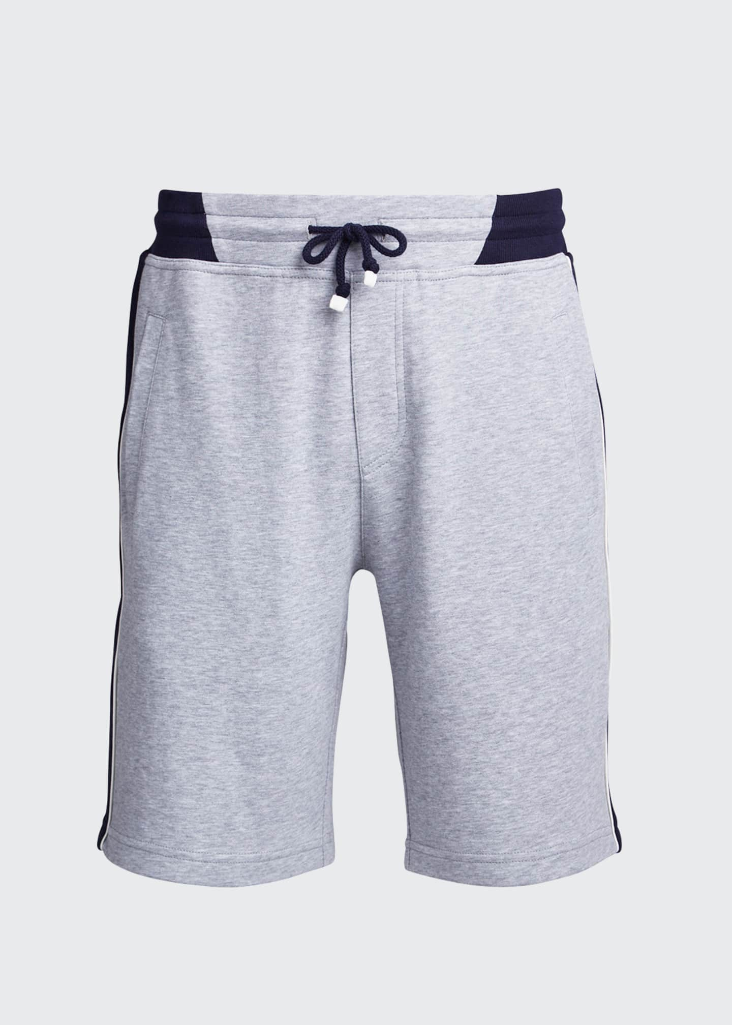 Image 5 of 5: Men's Colorblock Knit Bermuda Shorts