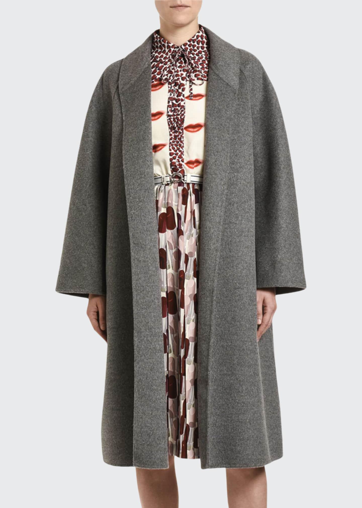 Prada Cashmere-Angora Opera Coat