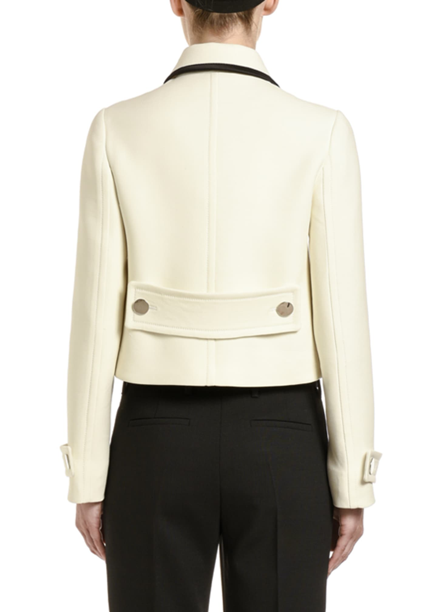 Image 2 of 2: Bow-Neck Button-Front Jacket