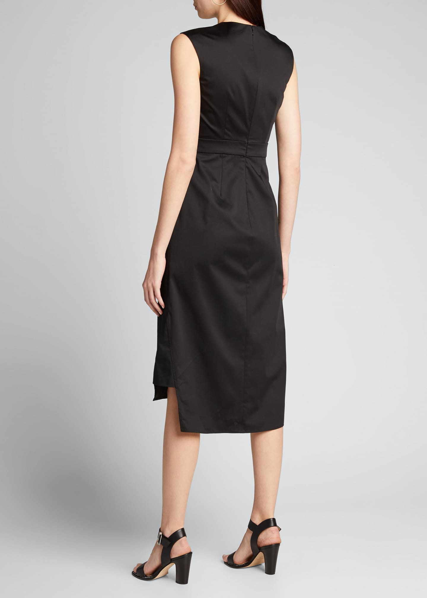 Image 2 of 5: Sateen Sleeveless Suit Dress