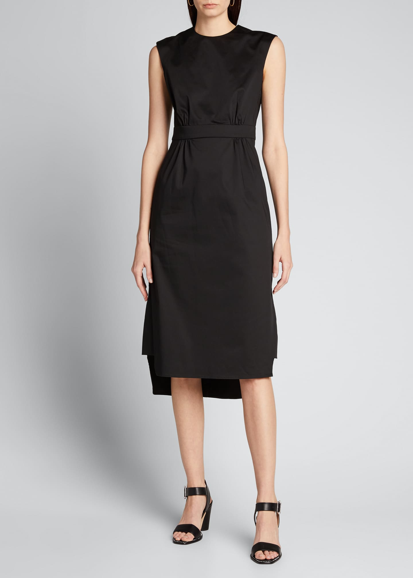 Image 3 of 5: Sateen Sleeveless Suit Dress