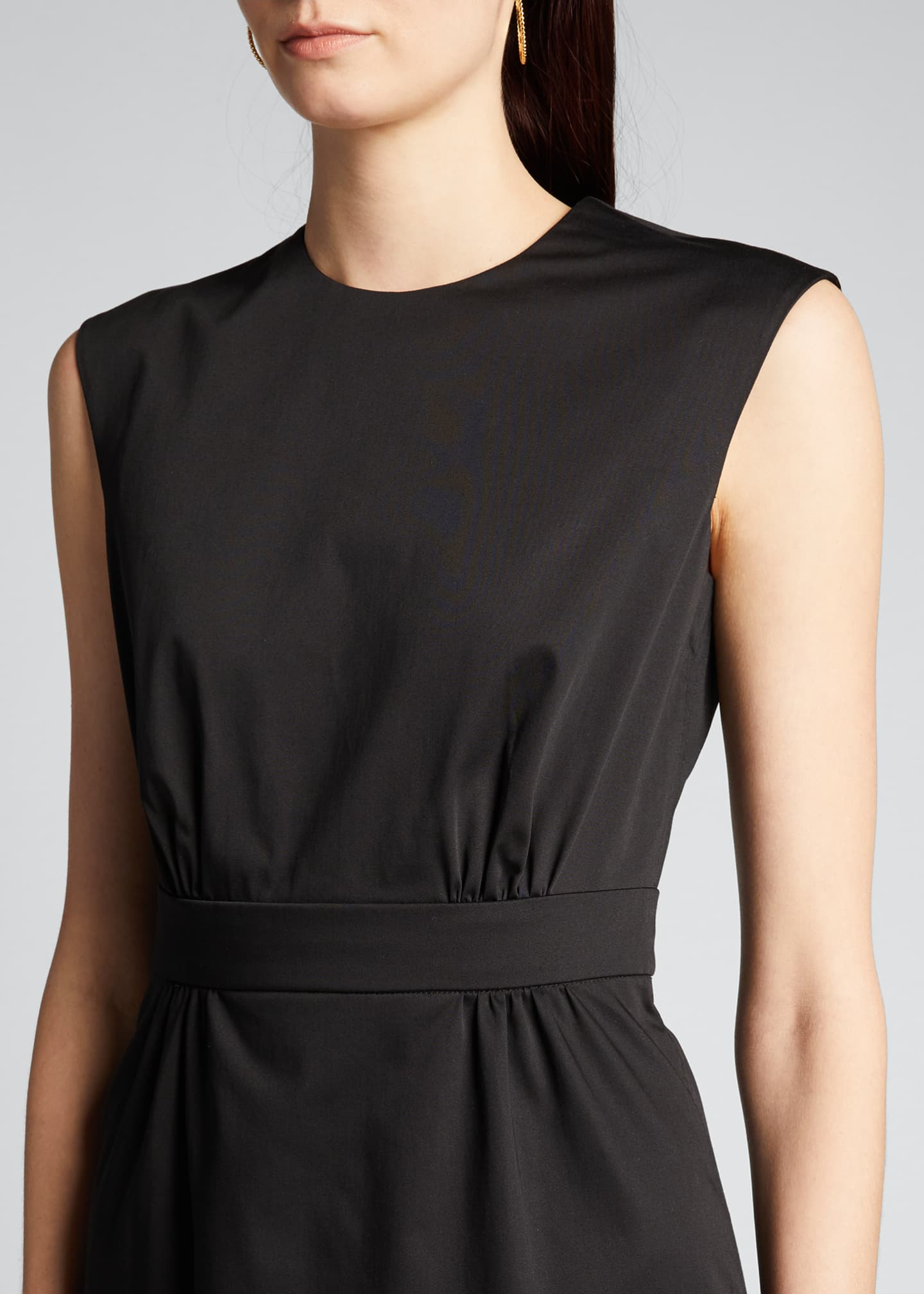 Image 4 of 5: Sateen Sleeveless Suit Dress