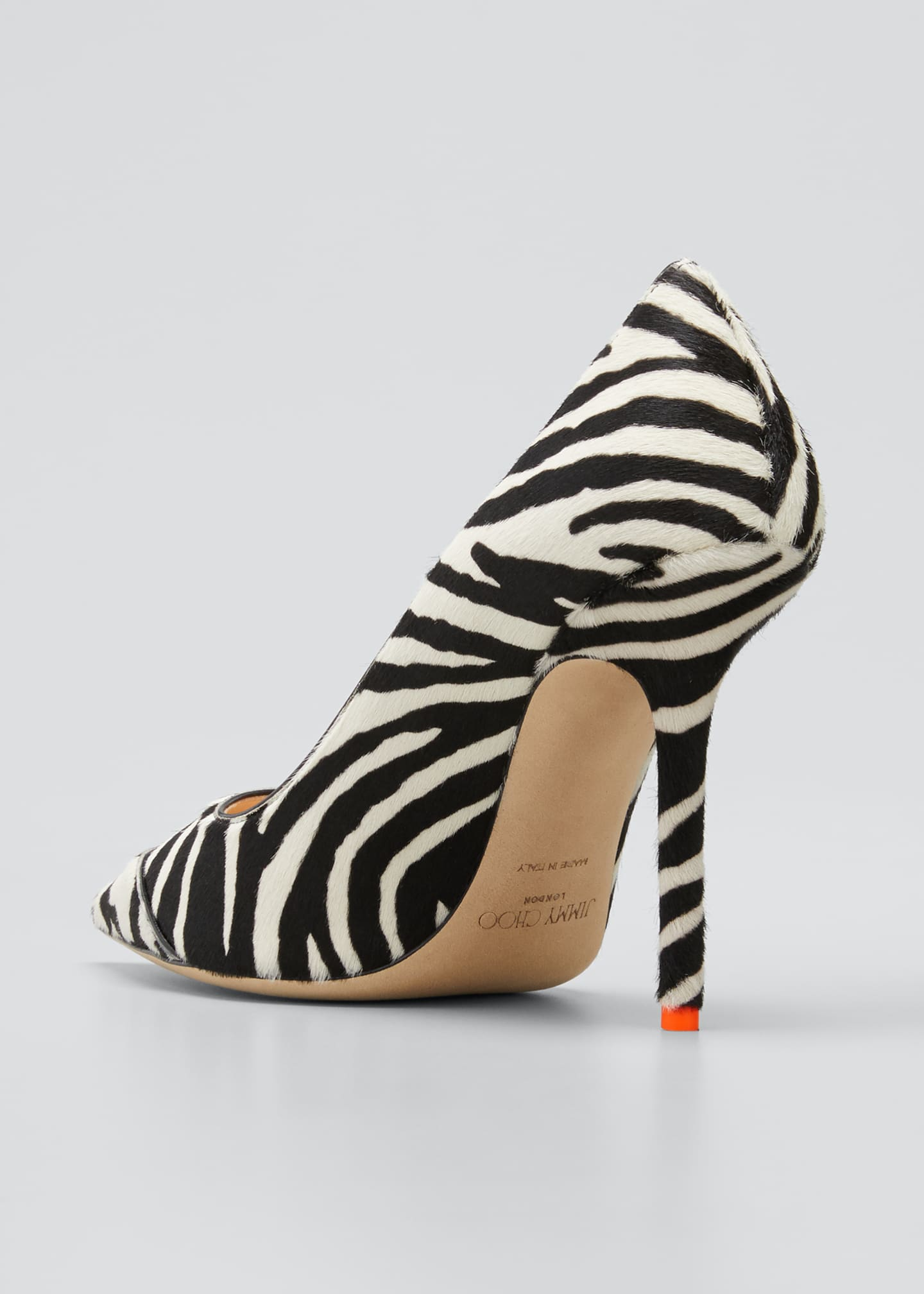 Image 4 of 5: 100mm Love Animal-Print Pumps