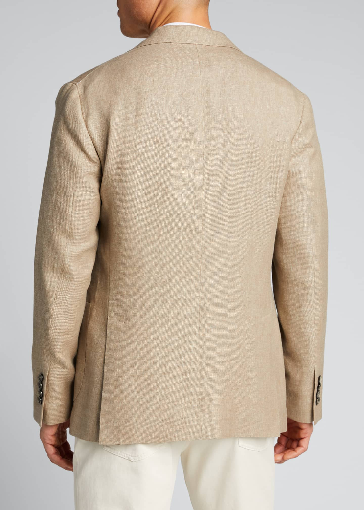 Image 2 of 5: Men's Hopsack Two-Button Jacket