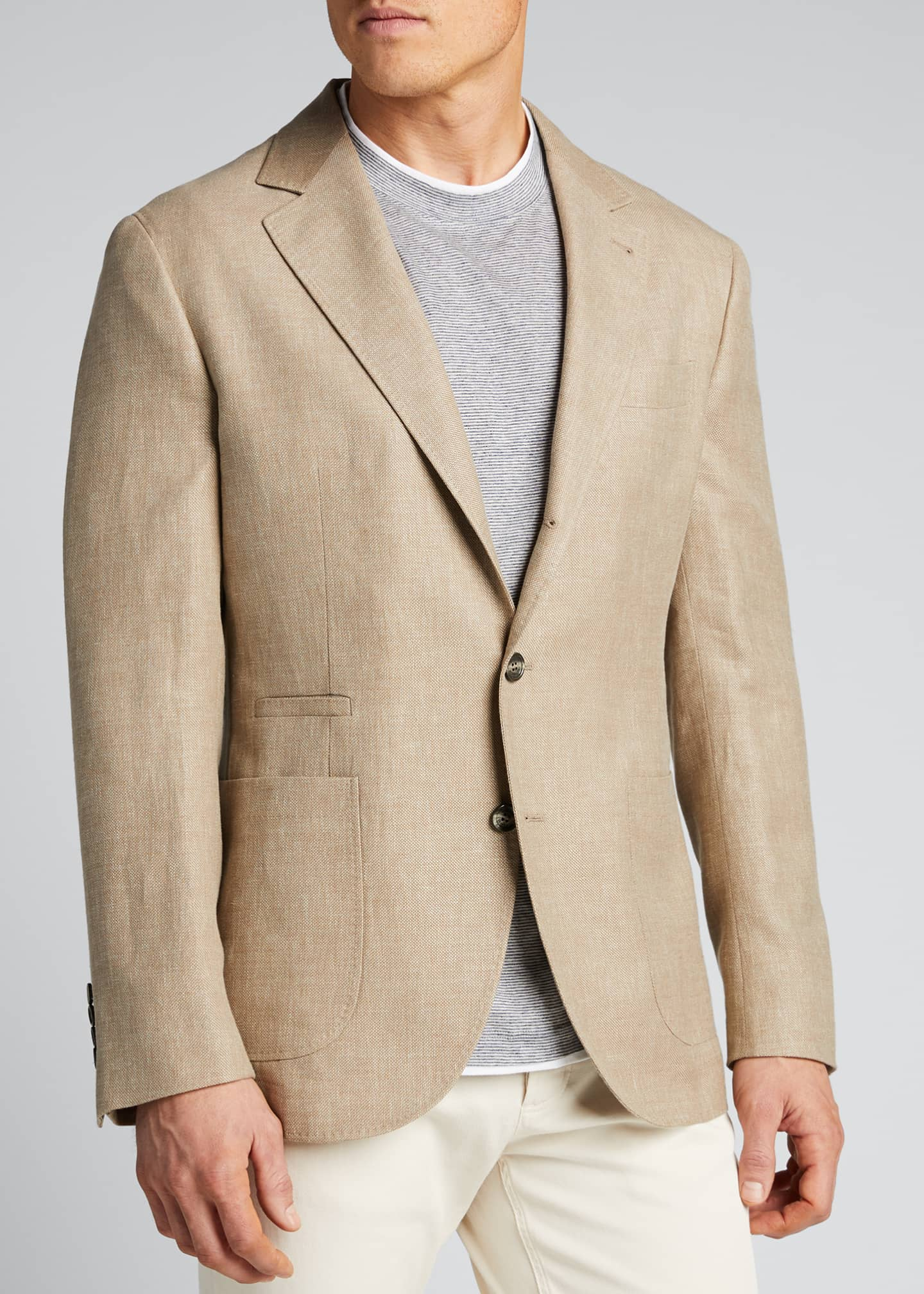 Image 3 of 5: Men's Hopsack Two-Button Jacket