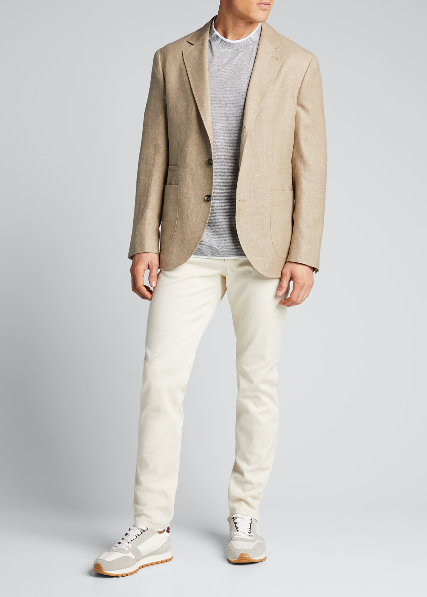 Image 1 of 5: Men's Hopsack Two-Button Jacket