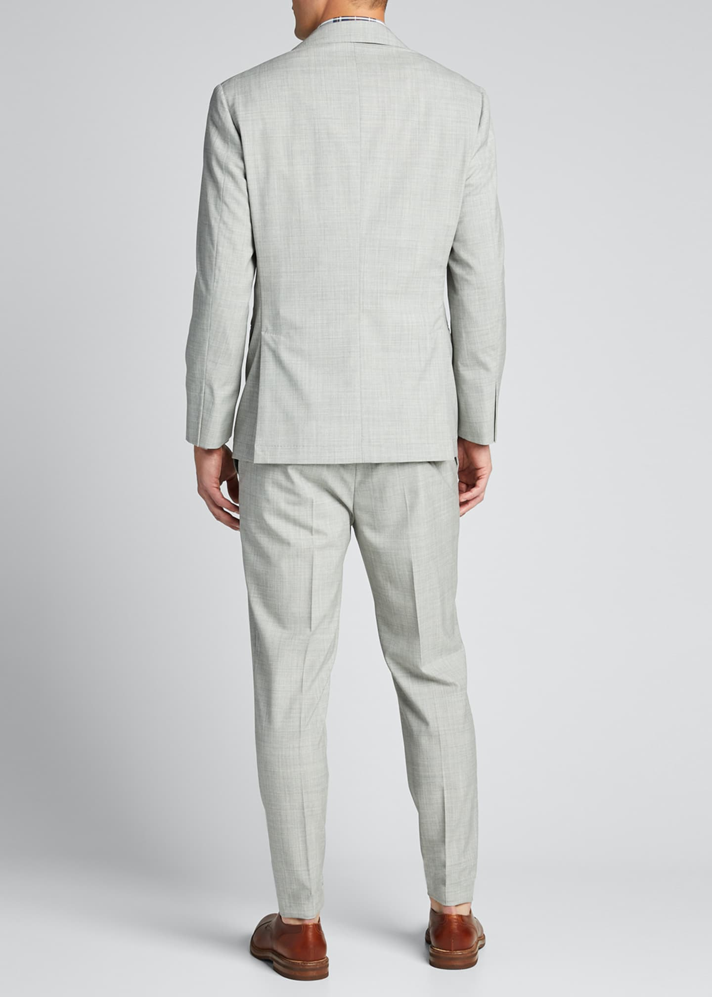 Image 2 of 5: Men's Solid Wool Two-Piece Suit