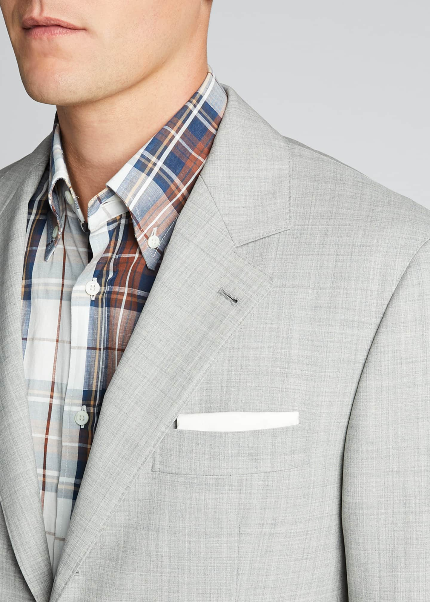 Image 4 of 5: Men's Solid Wool Two-Piece Suit