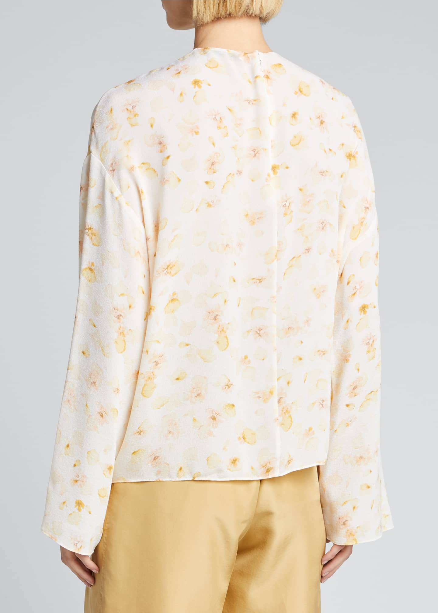 Image 2 of 5: Pressed Petal Long-Sleeve Blouse