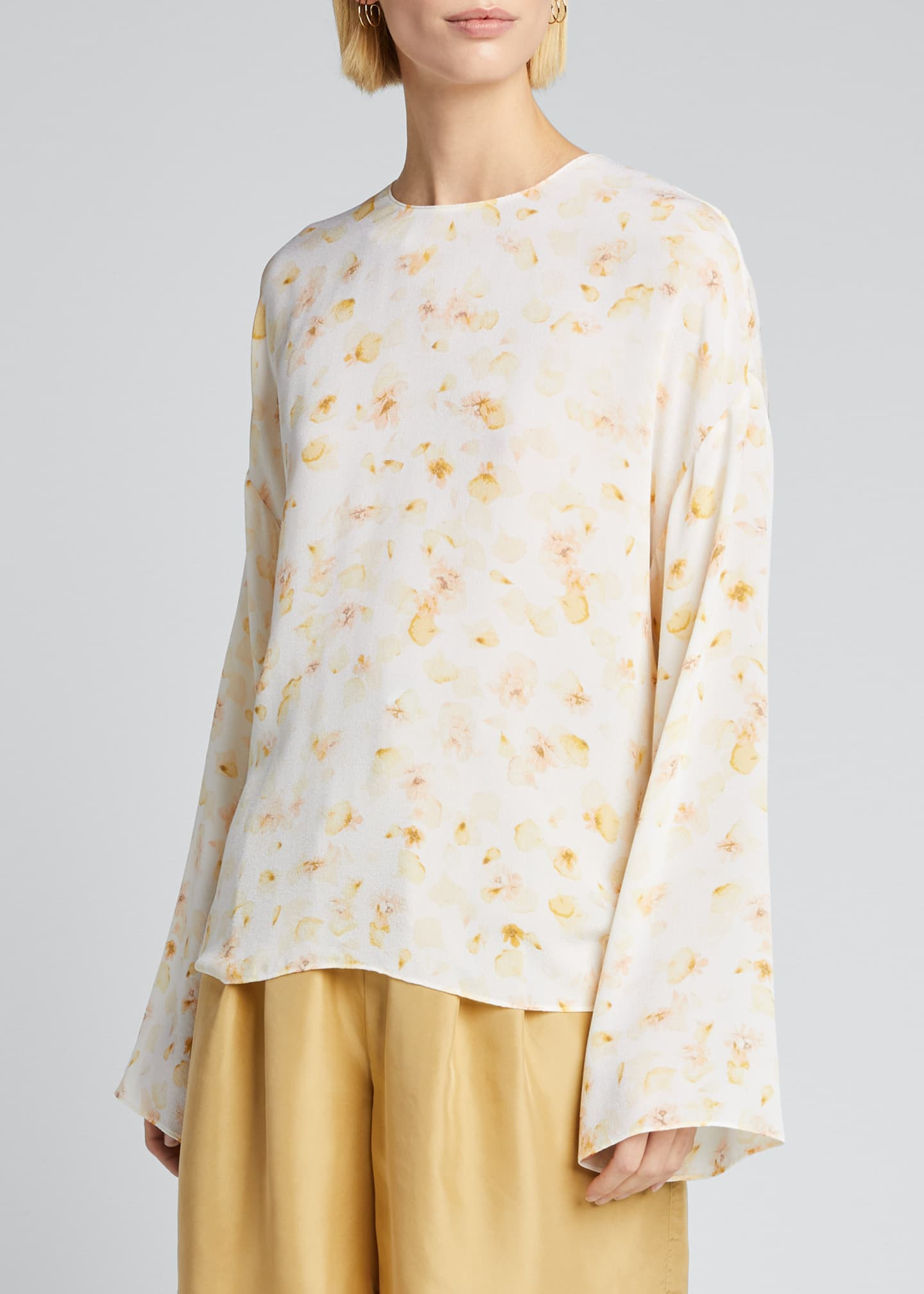 Image 3 of 5: Pressed Petal Long-Sleeve Blouse