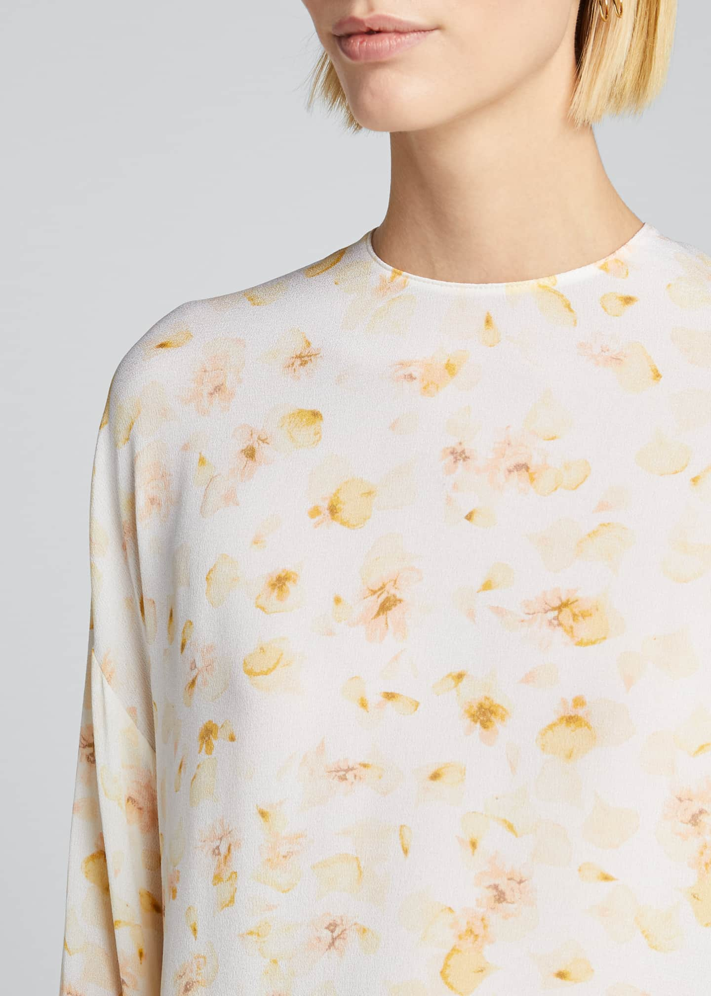 Image 4 of 5: Pressed Petal Long-Sleeve Blouse