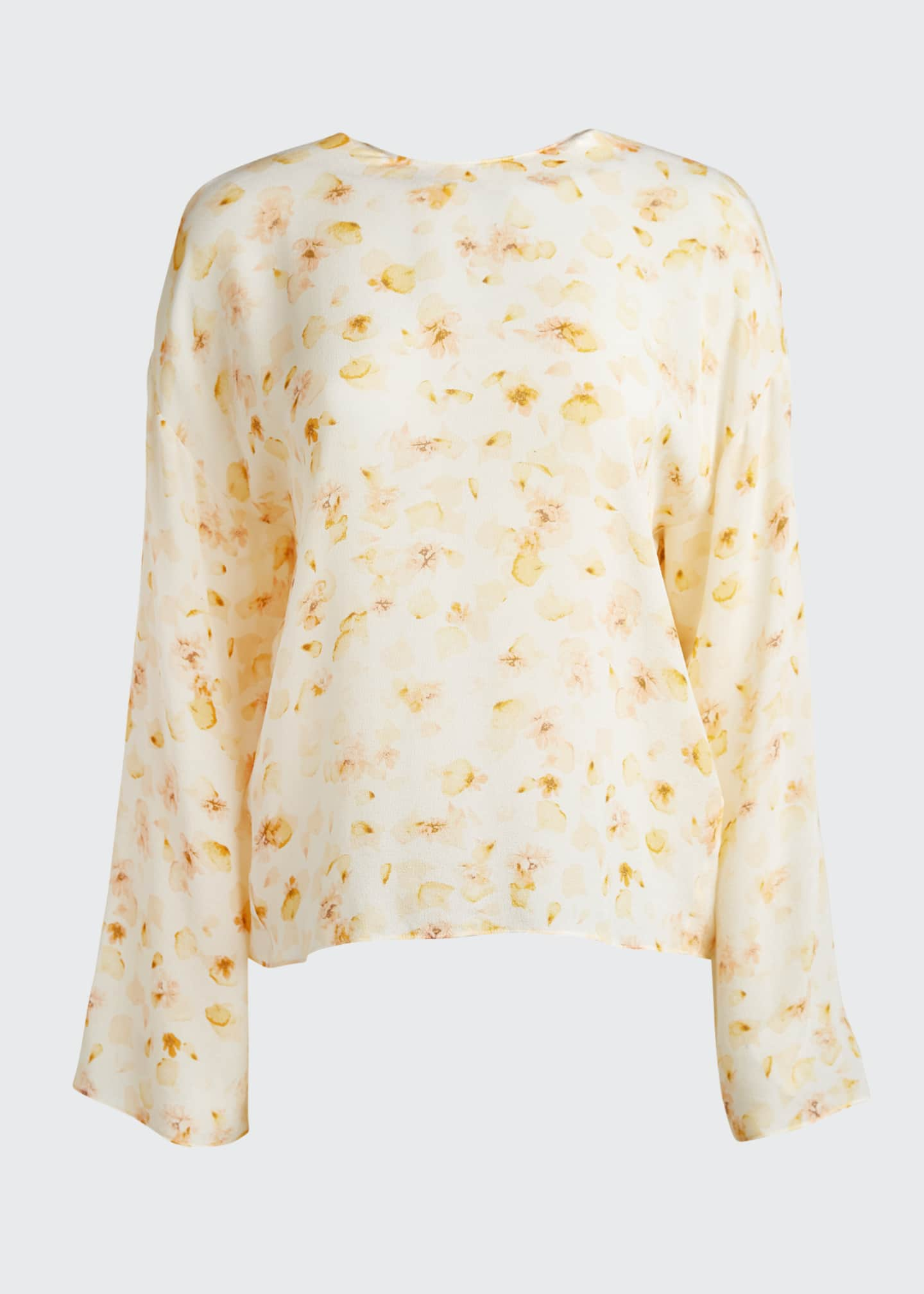 Image 5 of 5: Pressed Petal Long-Sleeve Blouse