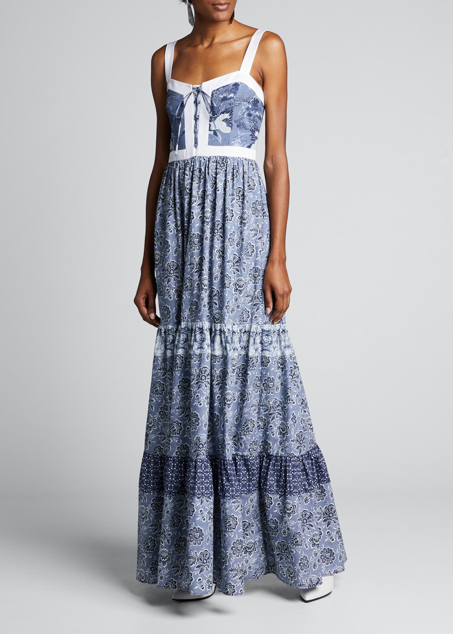 Image 3 of 5: Jemma Printed Tiered Dress