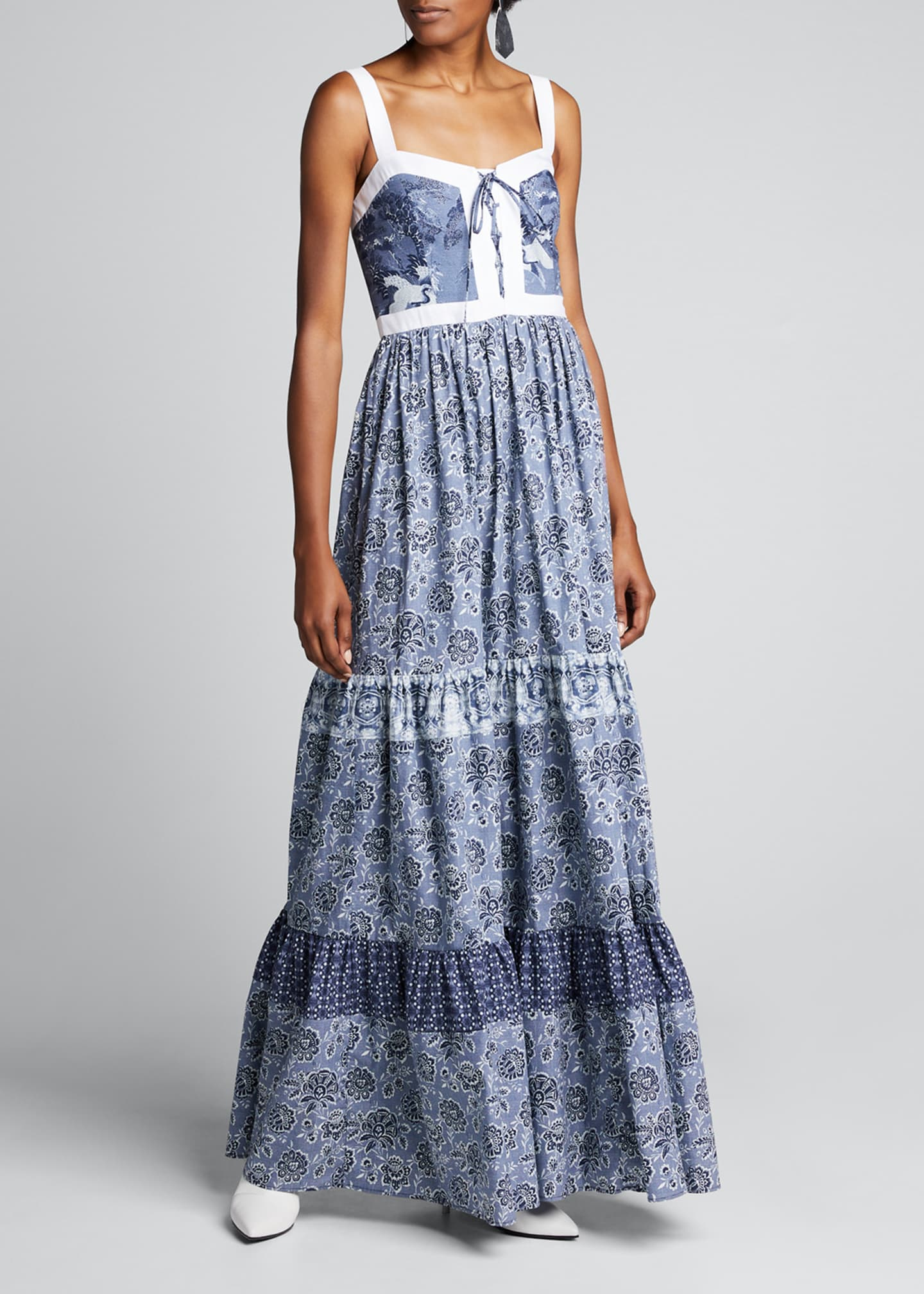 Image 1 of 5: Jemma Printed Tiered Dress