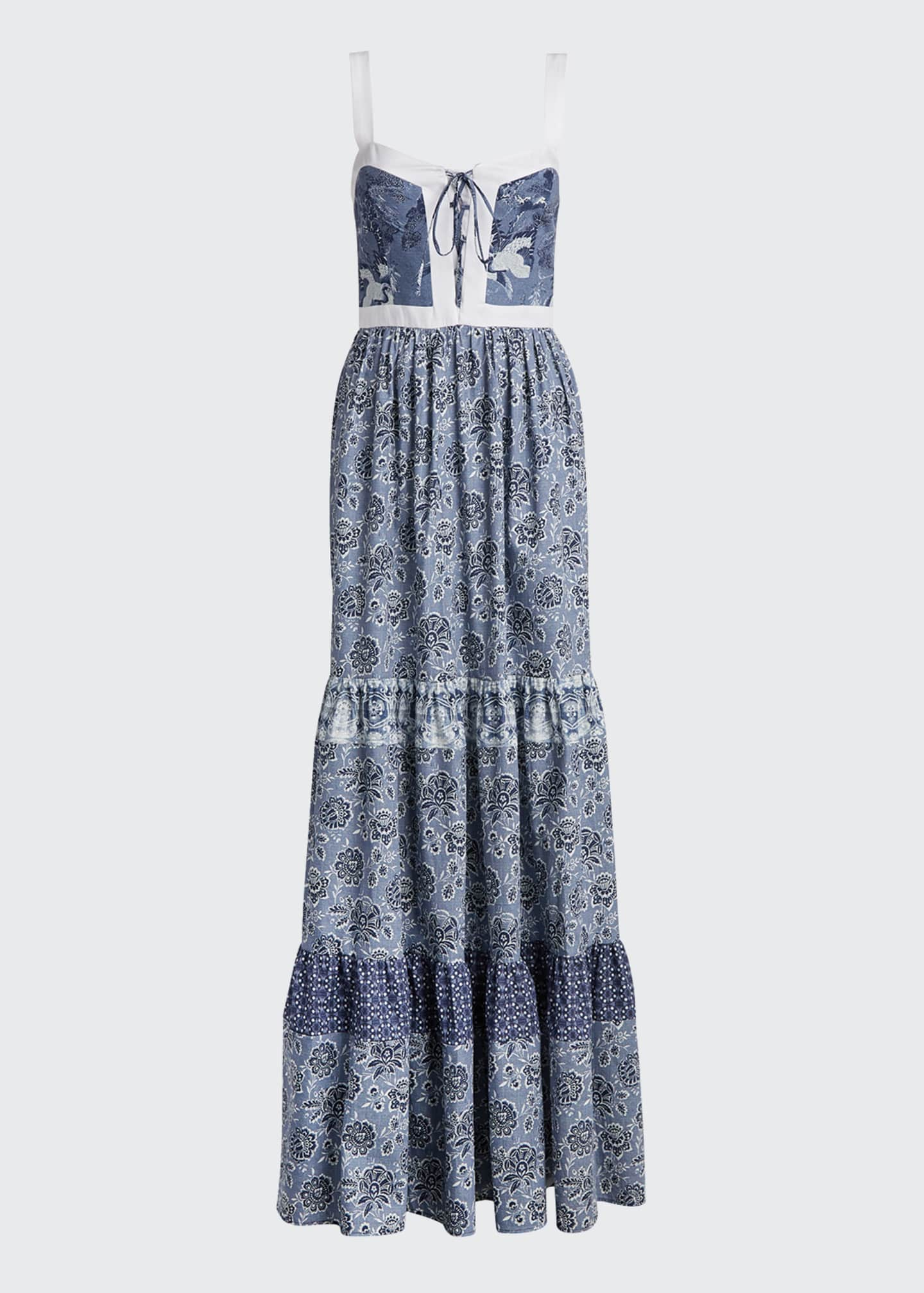 Image 5 of 5: Jemma Printed Tiered Dress