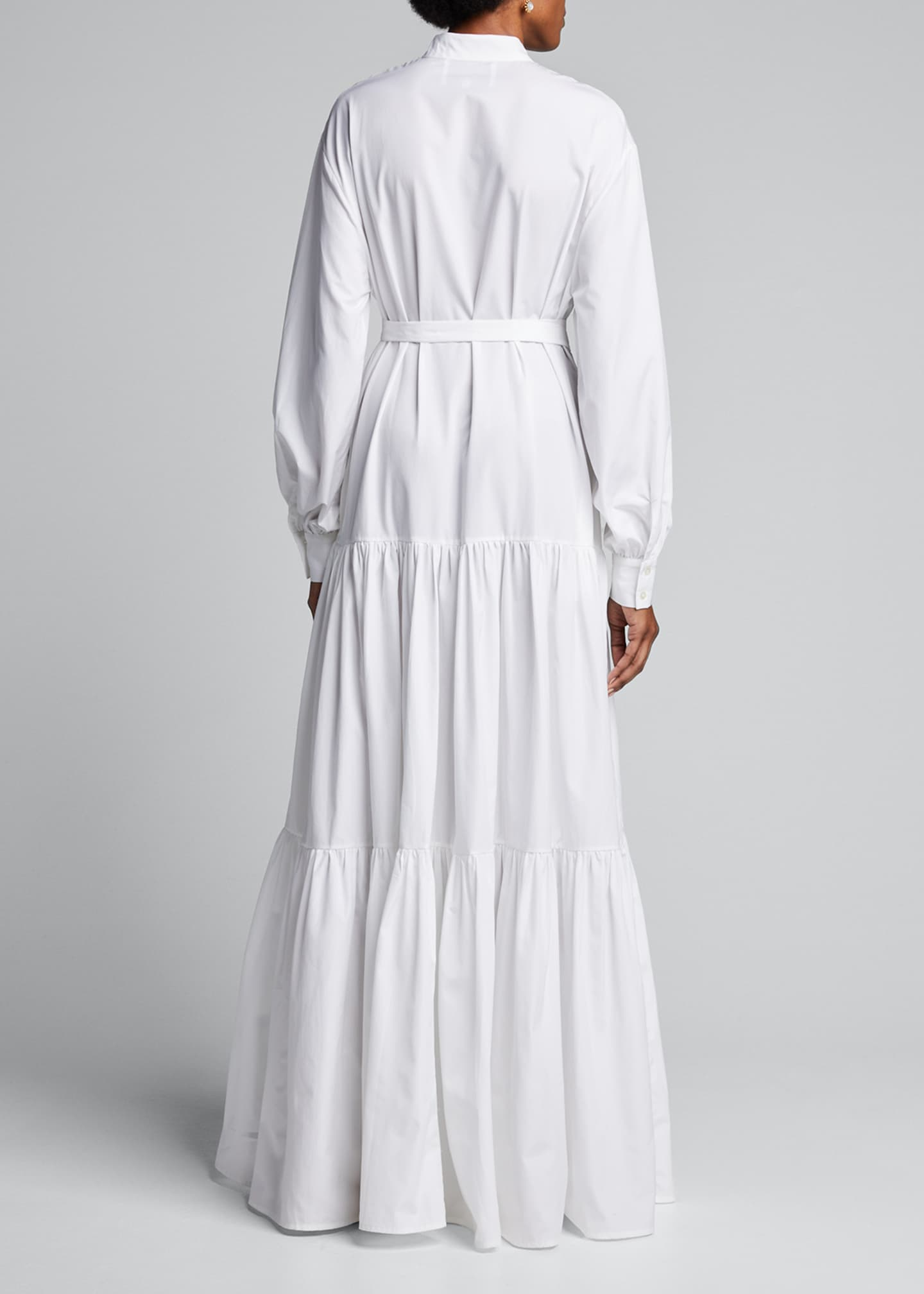 Image 2 of 5: Beldi Tassel-Belt Tiered Shirtdress