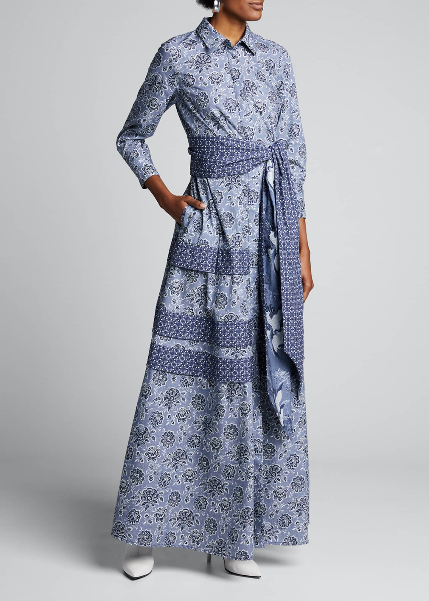 Evi Grintela Menara 3/4-Sleeve Printed Shirtdress
