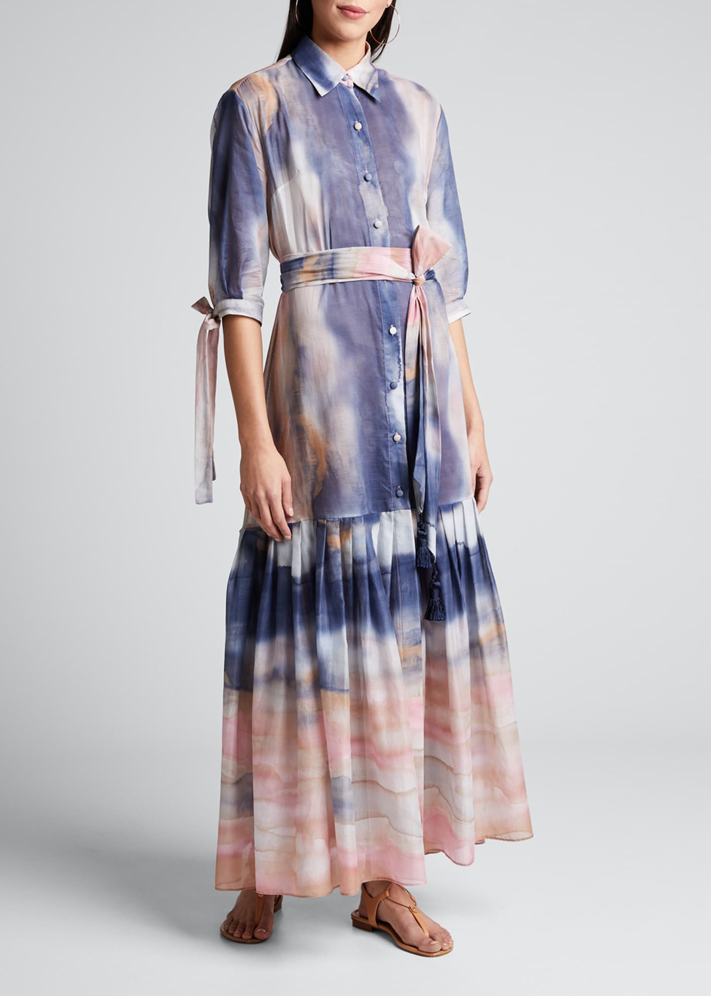 Evi Grintela Mouassine Sheer Tie-Dye Dress
