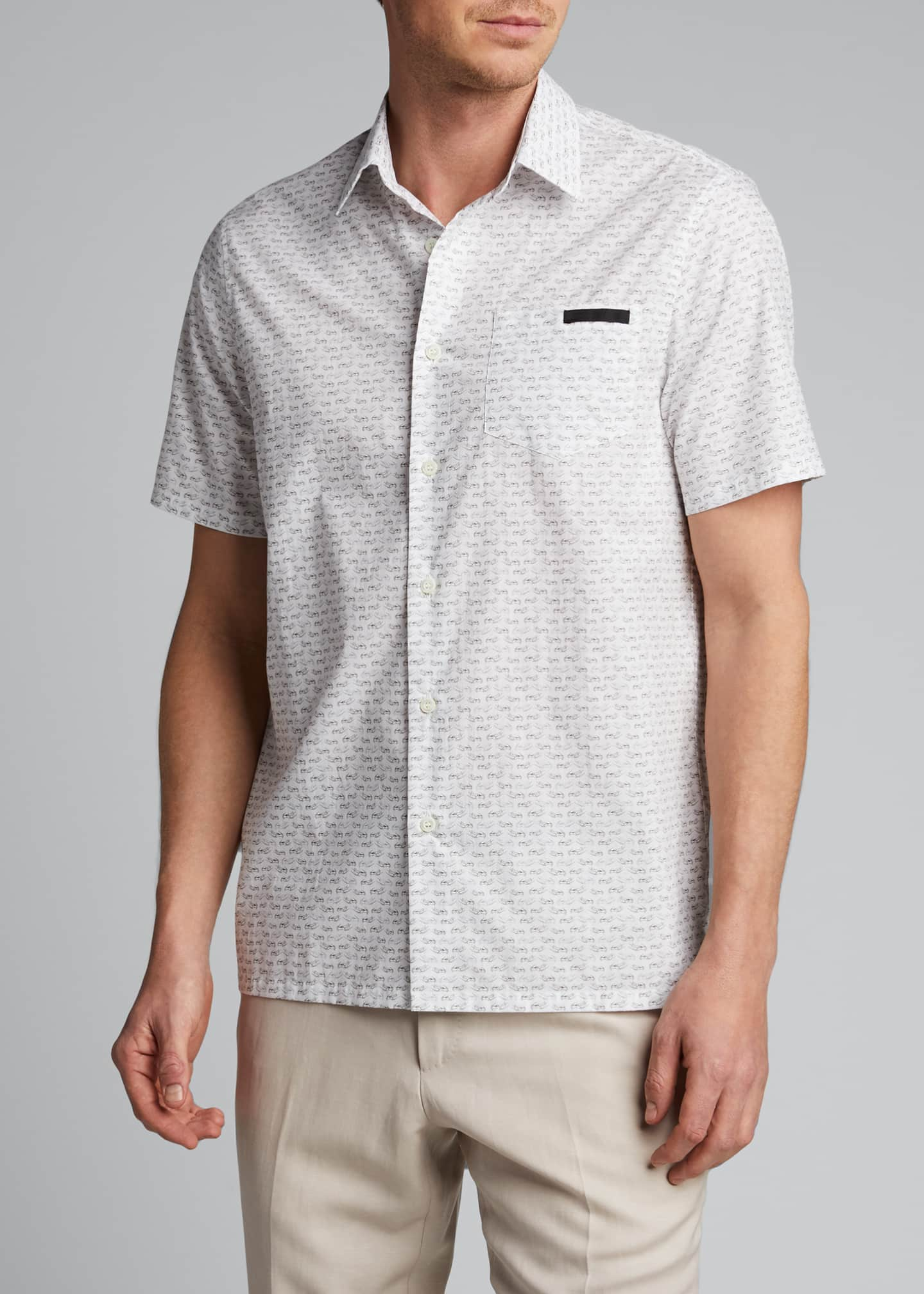Image 3 of 5: Men's Journey Graphic Poplin Short-Sleeve Shirt