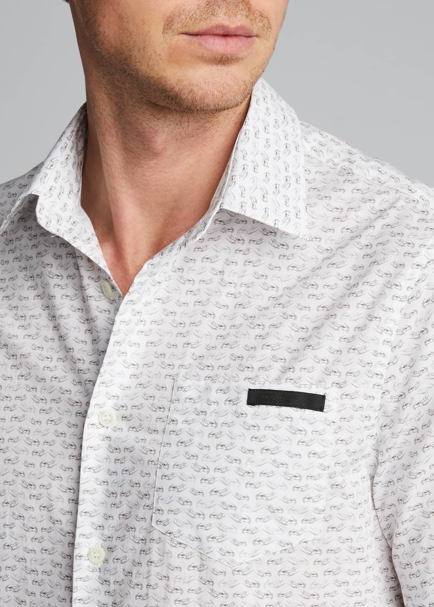 Image 4 of 5: Men's Journey Graphic Poplin Short-Sleeve Shirt